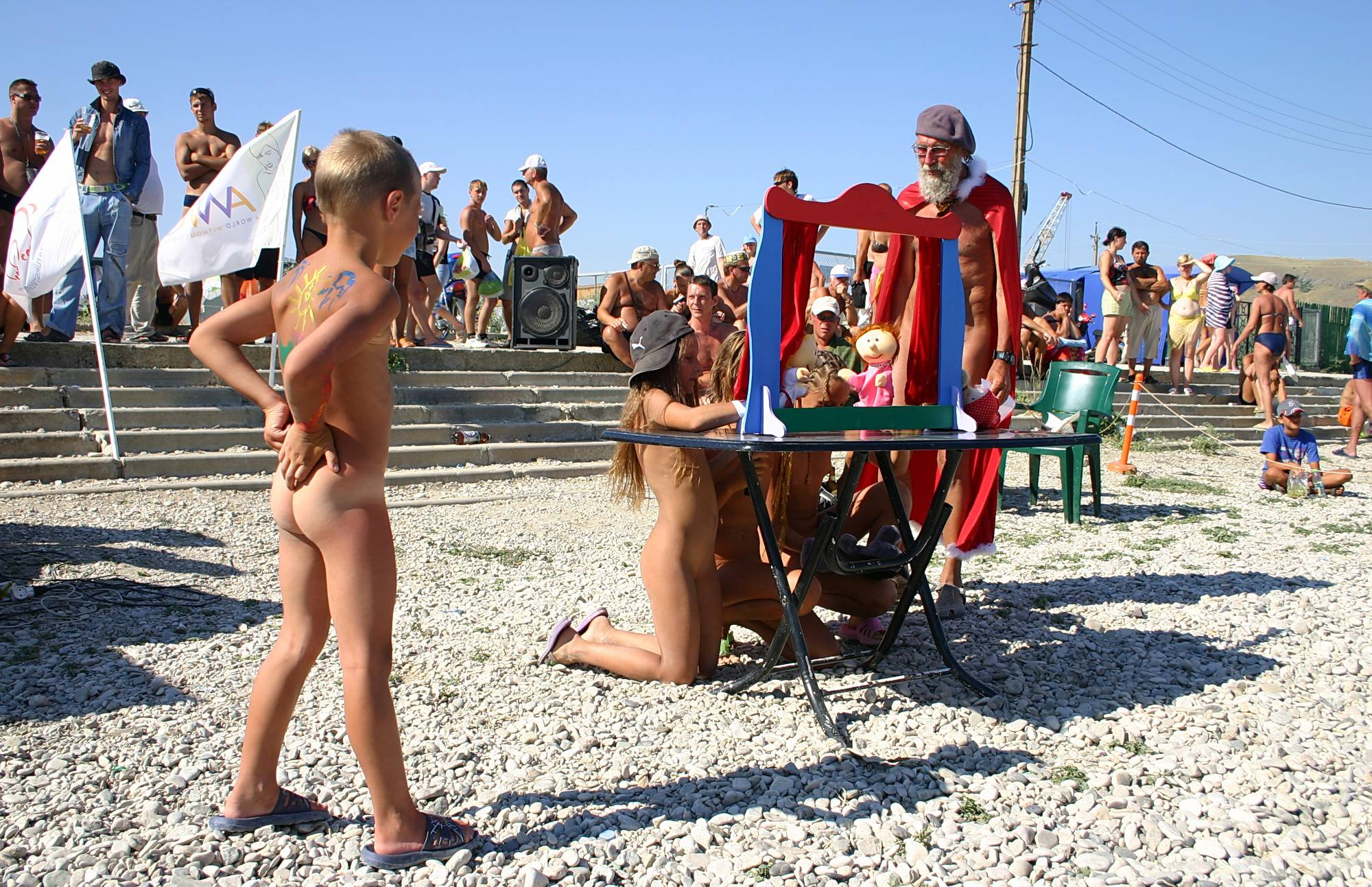 Pure Nudism-Beach Front Puppet Show - 2