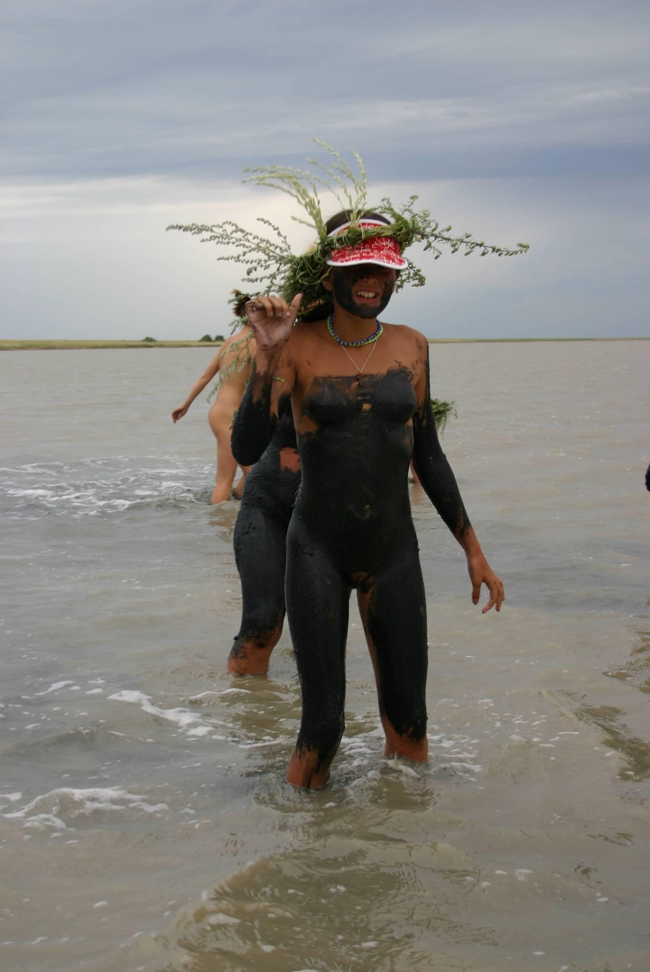 Purenudism Photos-Black-Sea Body Mud Shots - 1