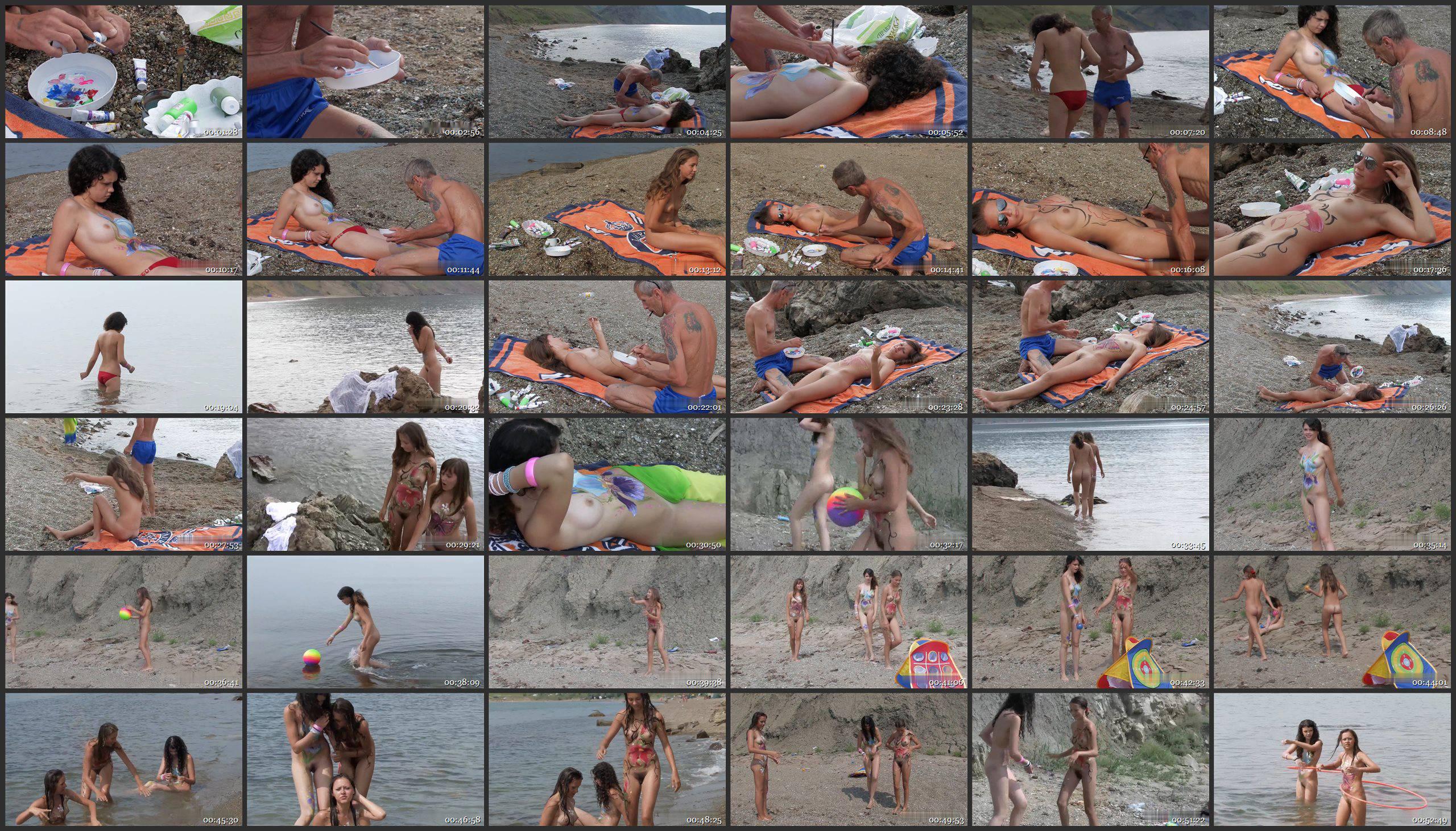 Candid-HD.com-Body Art Nudist Beach. Part 1 - Thumbnails