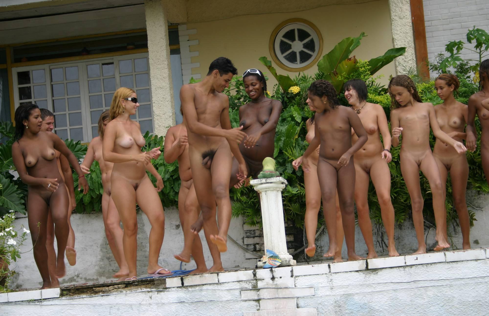 Pure Nudism Gallery-Brazilian Jumping in Pool - 3
