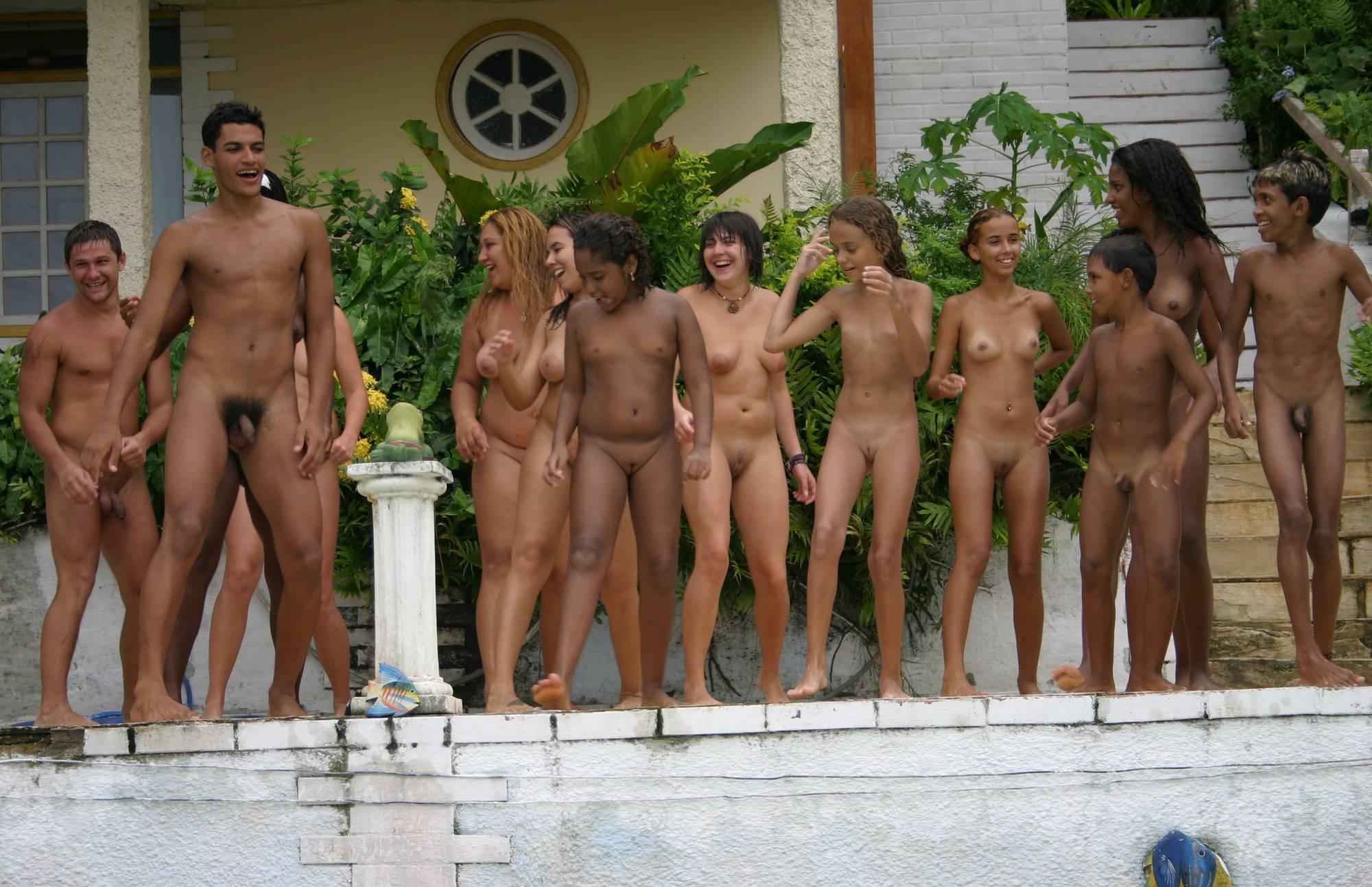Purenudism Pics-Brazilian Jumping in Pool - 4