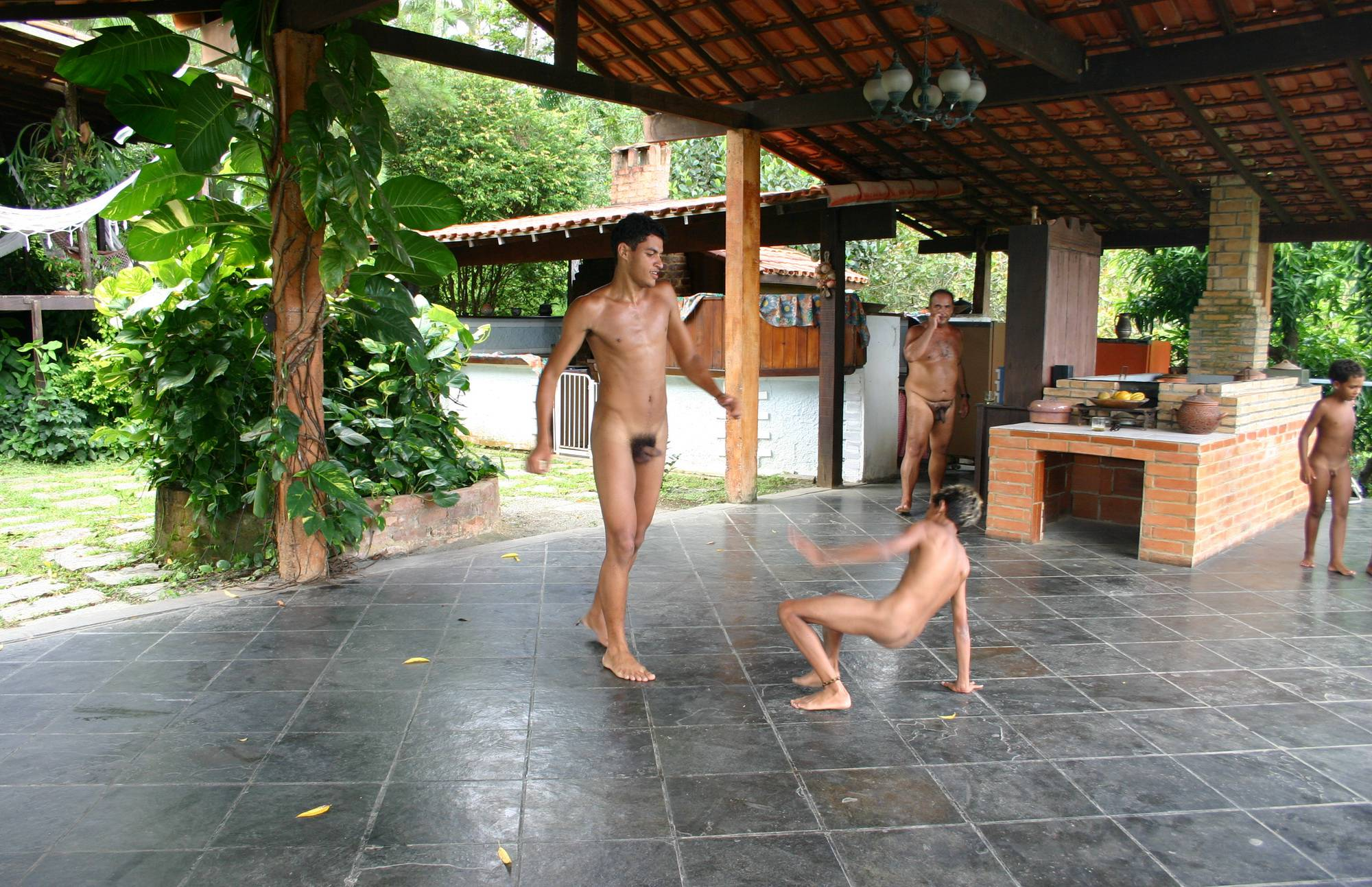 Pure Nudism Gallery-Brazilian Men Are Dancing - 1