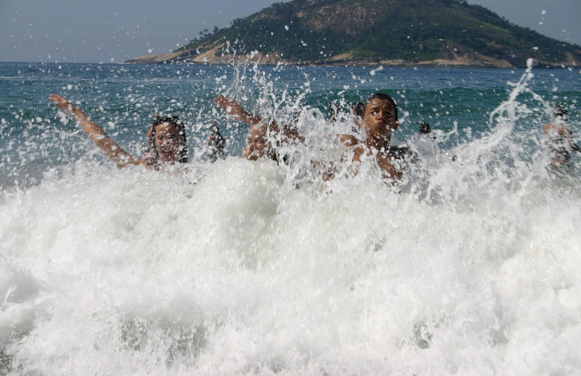 Pure Nudism Pics-Brazilian Water Splashing - 2