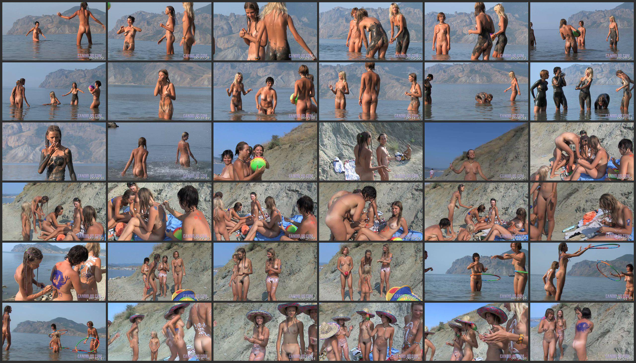 Candid-HD Videos-Mom and Daughter Beach Games 1 - Thumbnails