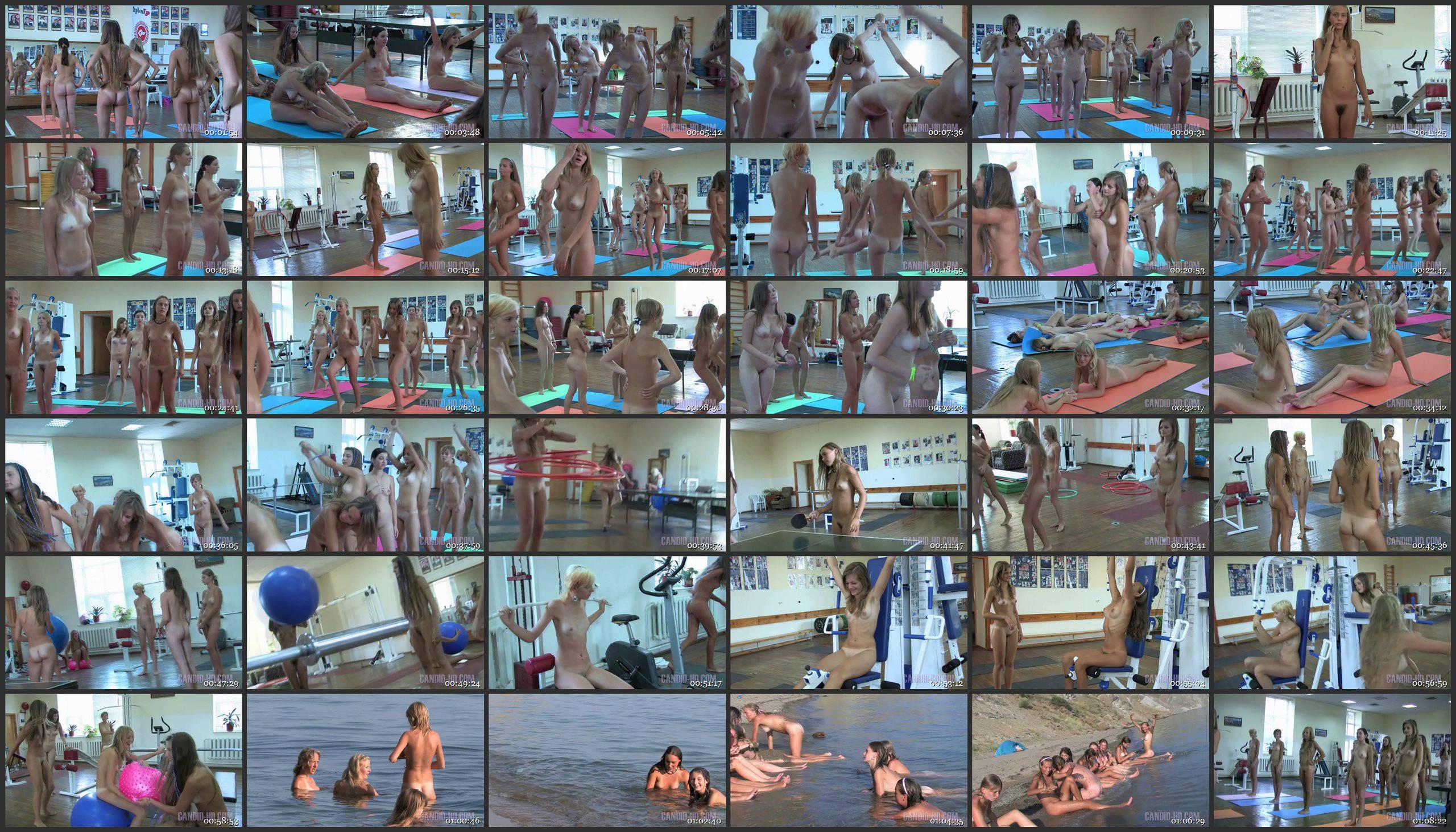 Teen Nudist Workout 2 - Thumbnails