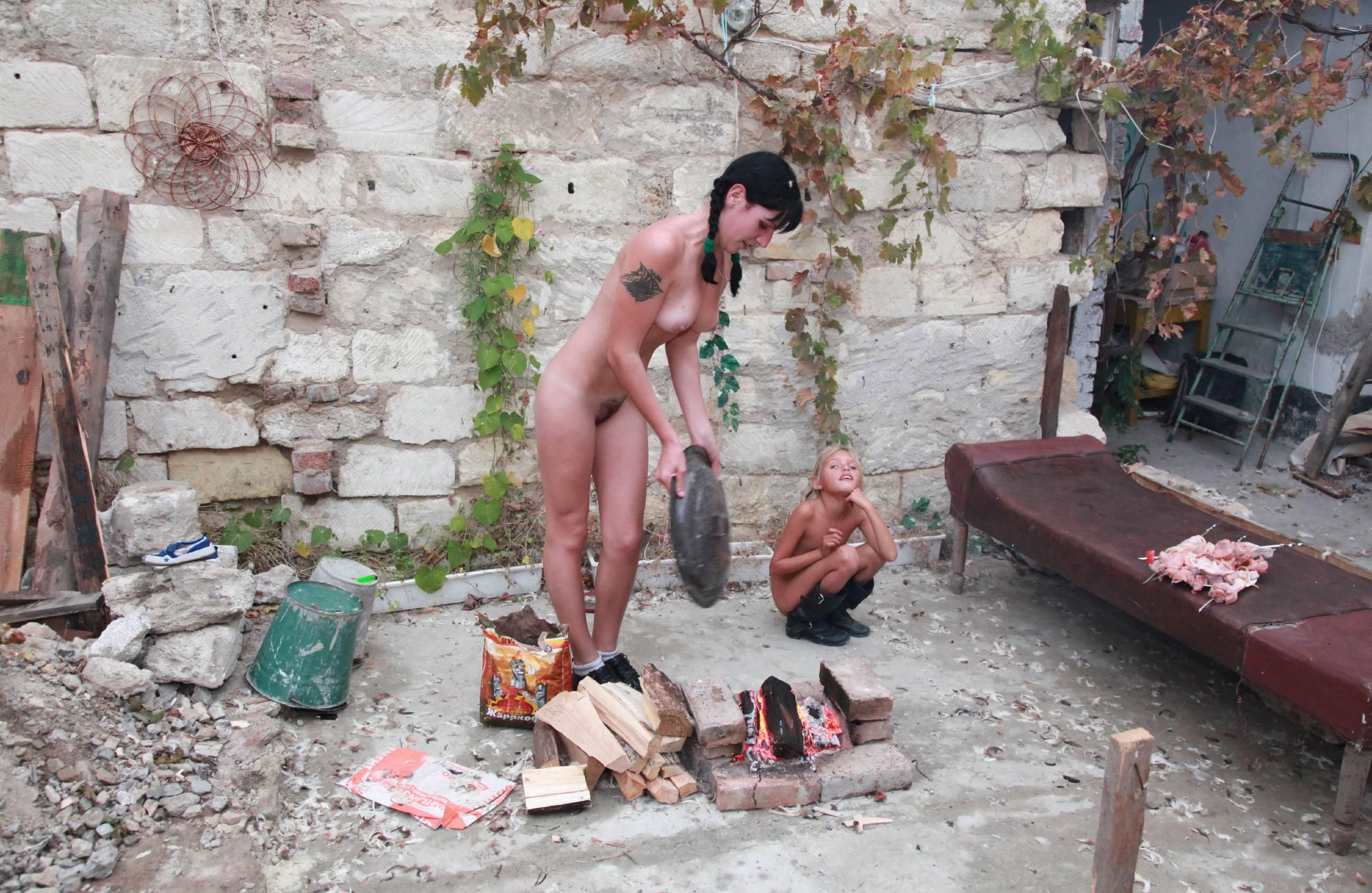 Purenudism Pics-Cozy Backyard Cookout - 2