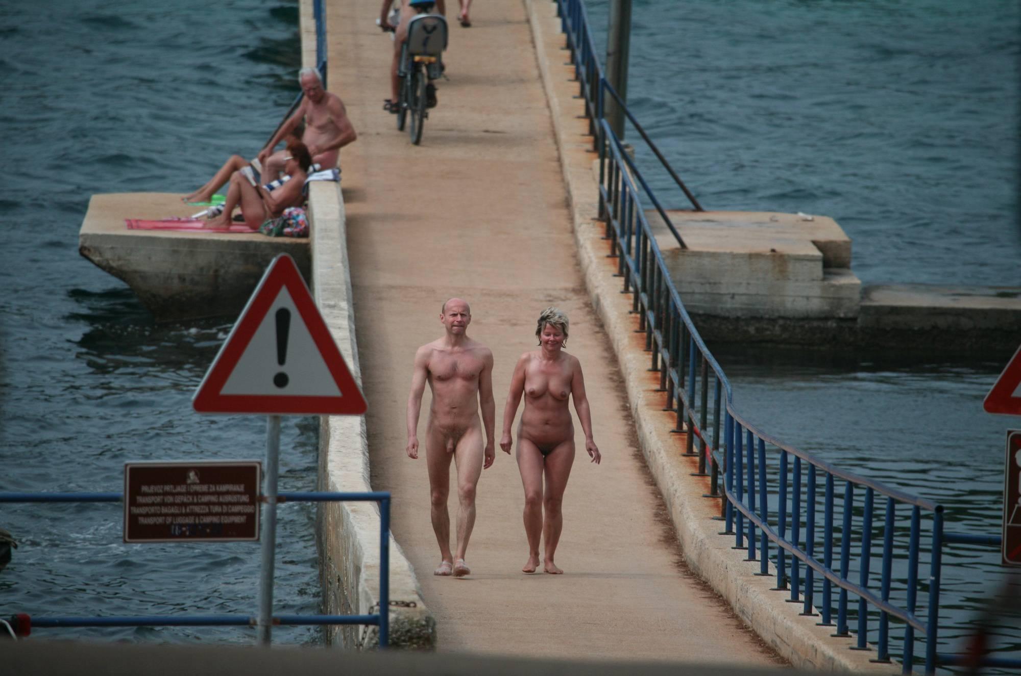 Pure Nudism Images-Crete FKK Bridge Crossing - 2