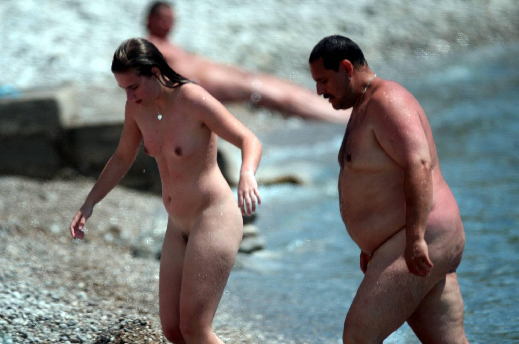 Pure Nudism Photos-Dad- Daughter Beach Trip - 3