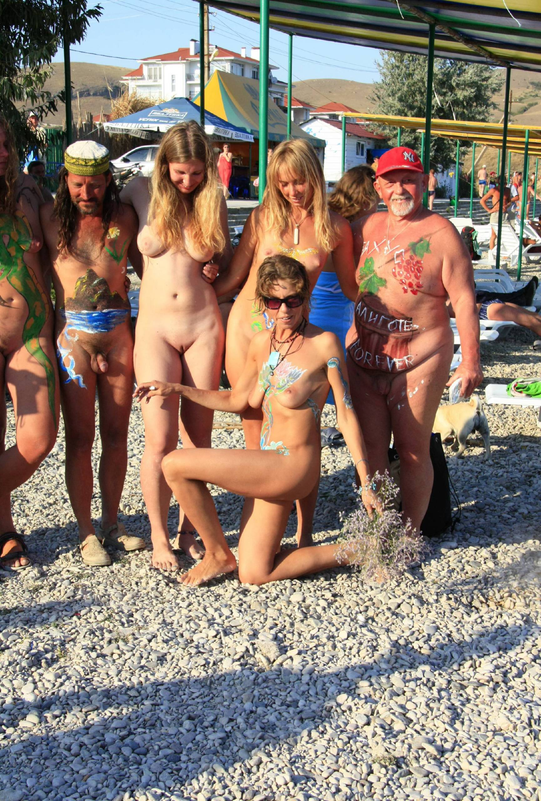 Pure Nudism Images Festival Evening Grouping - 3