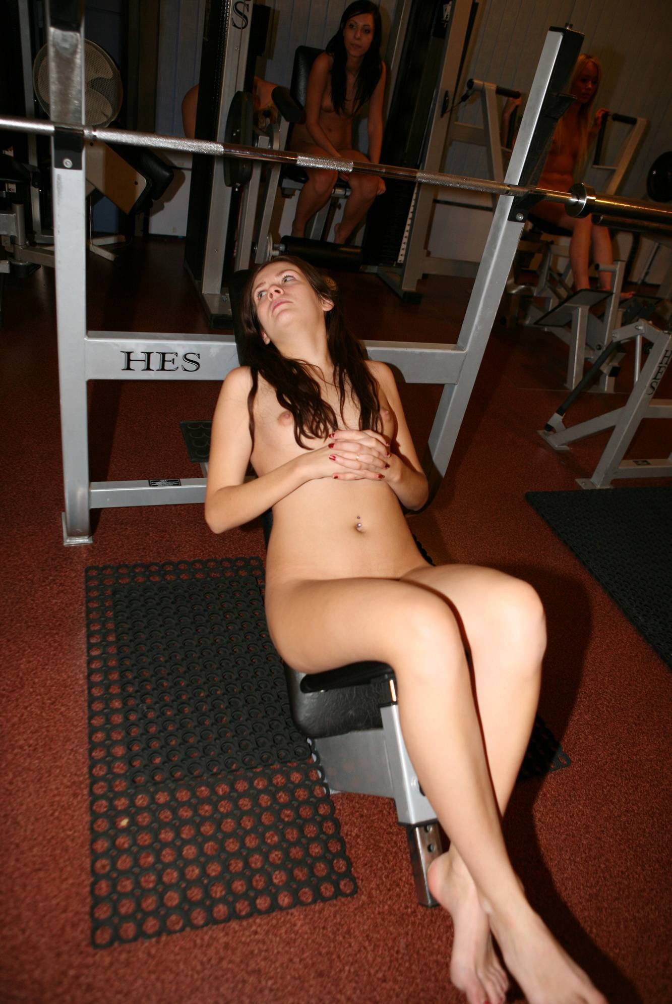 Gymnasts On The Bench - 2