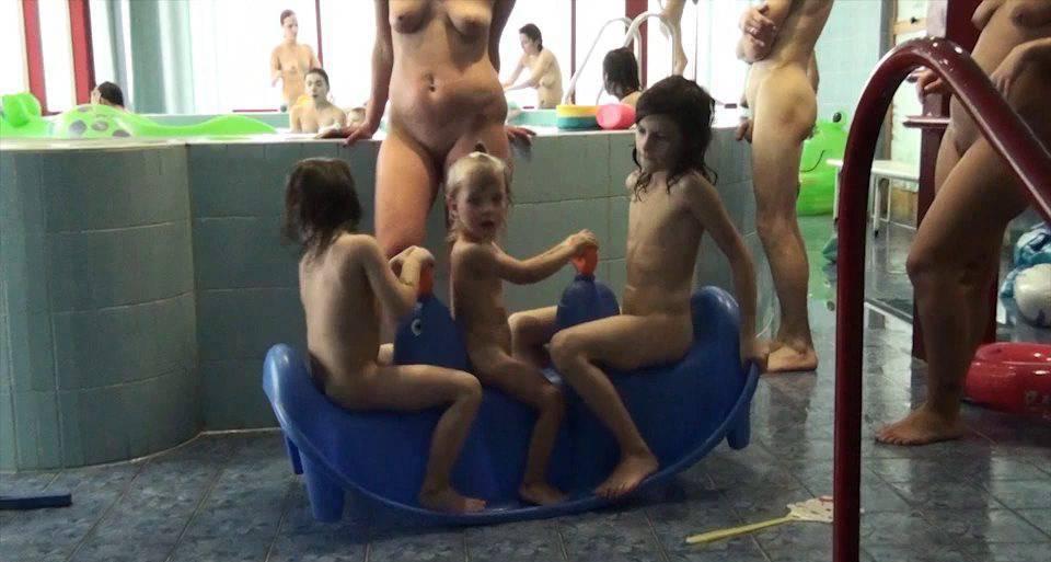 Pure Nudism Videos-Indoor Swim Exercise - 2