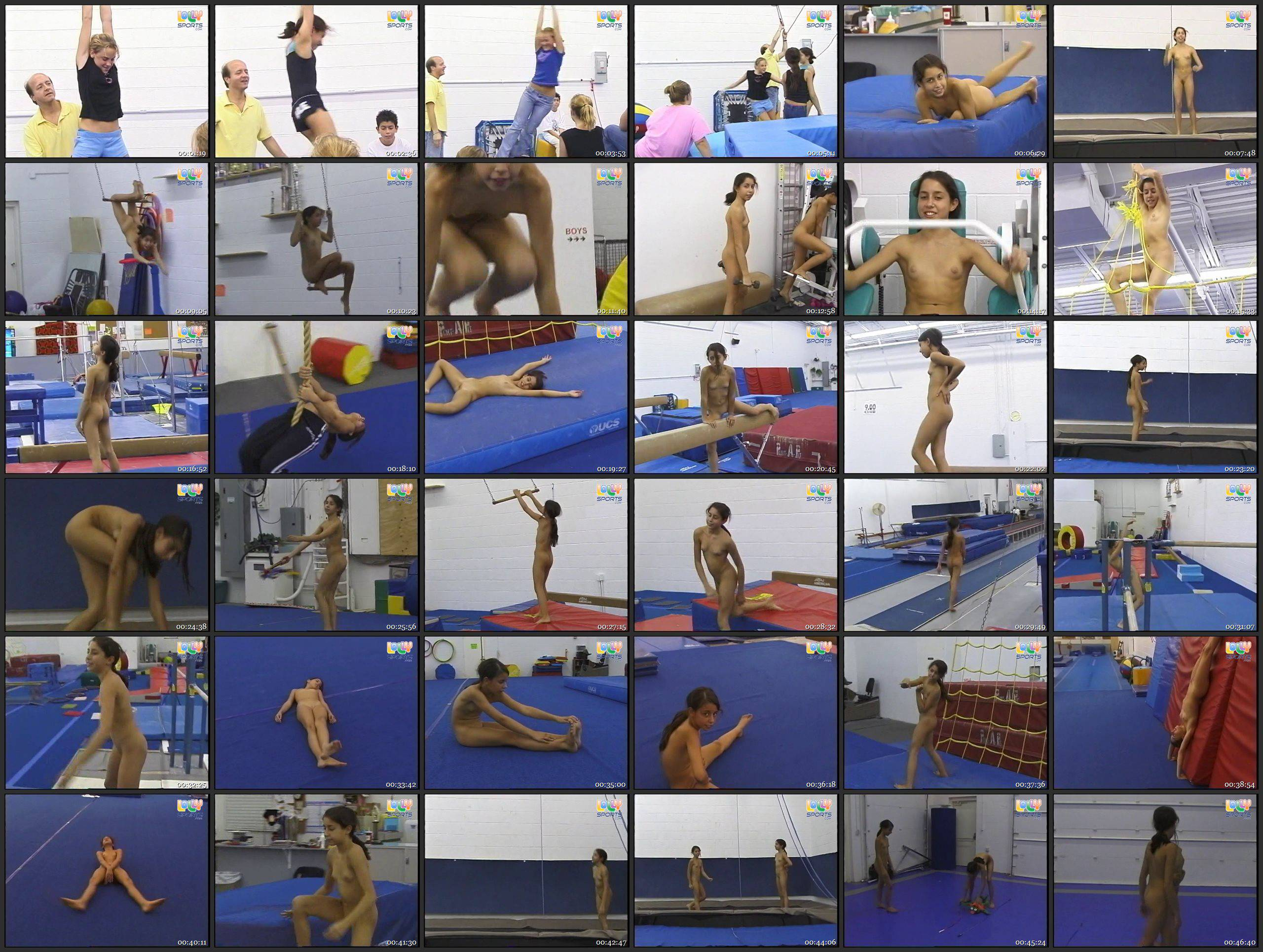 FKK Videos-Kasey and October Nude Gymnasts (LollySports.com) - Thumbnails