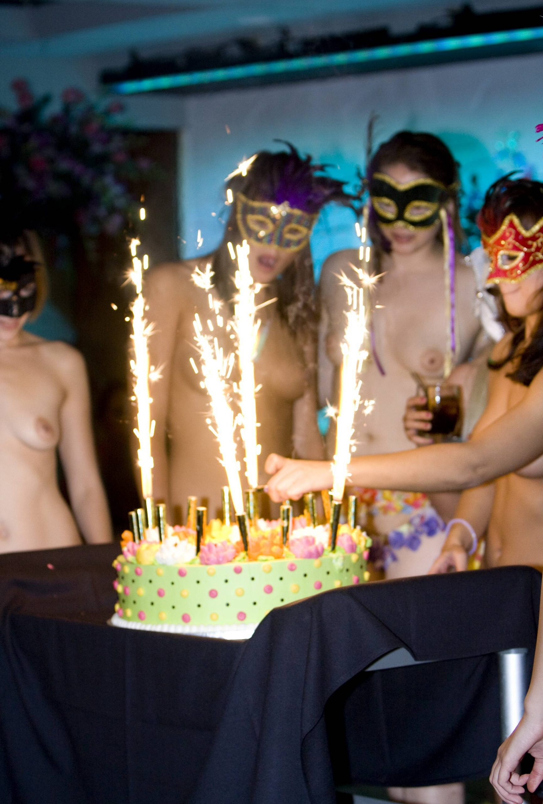 Purenudism Images-Masquerade Cake Eating - 1
