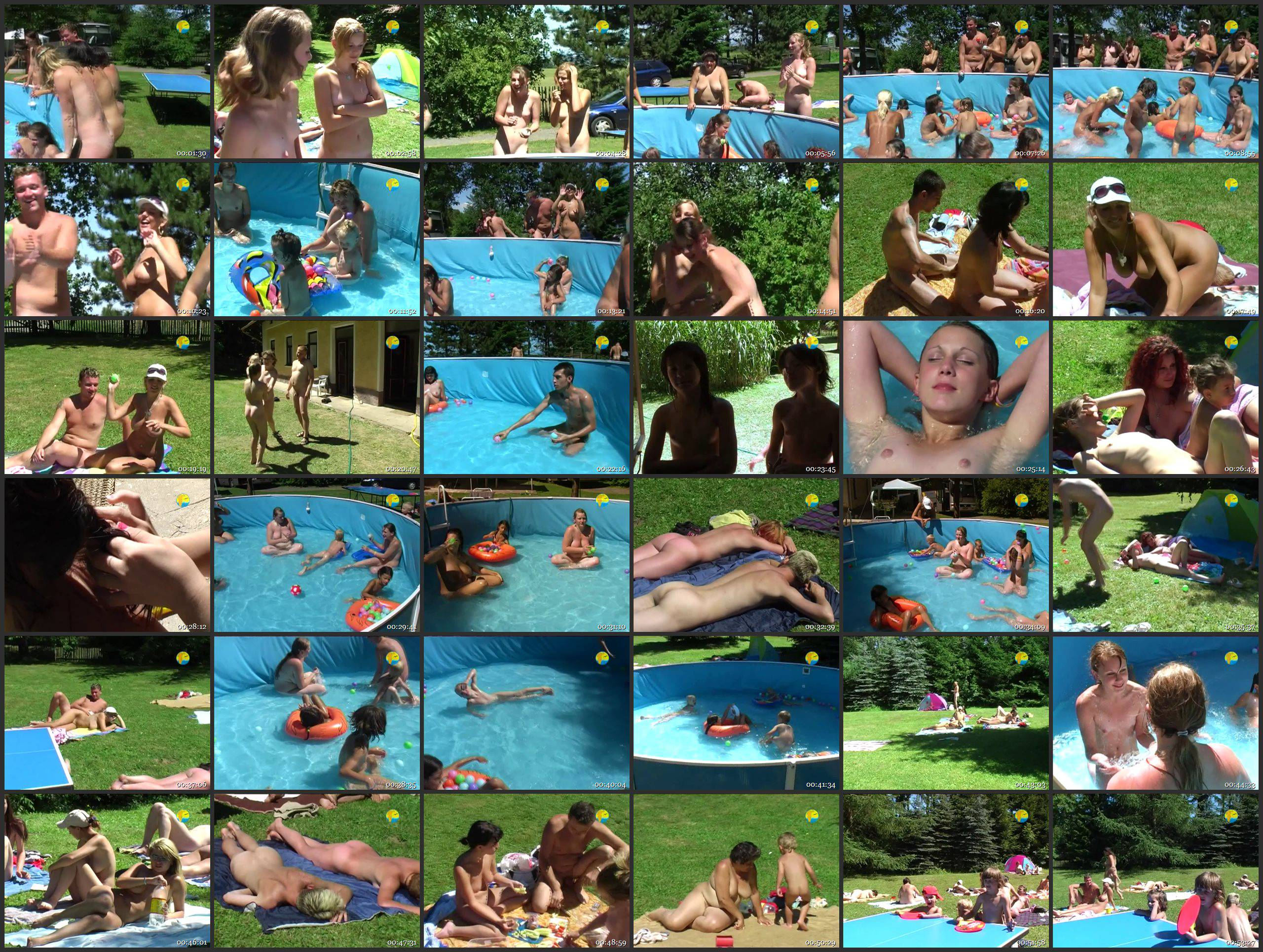 Naturist Freedom Videos Merry Pool - Thumbnails