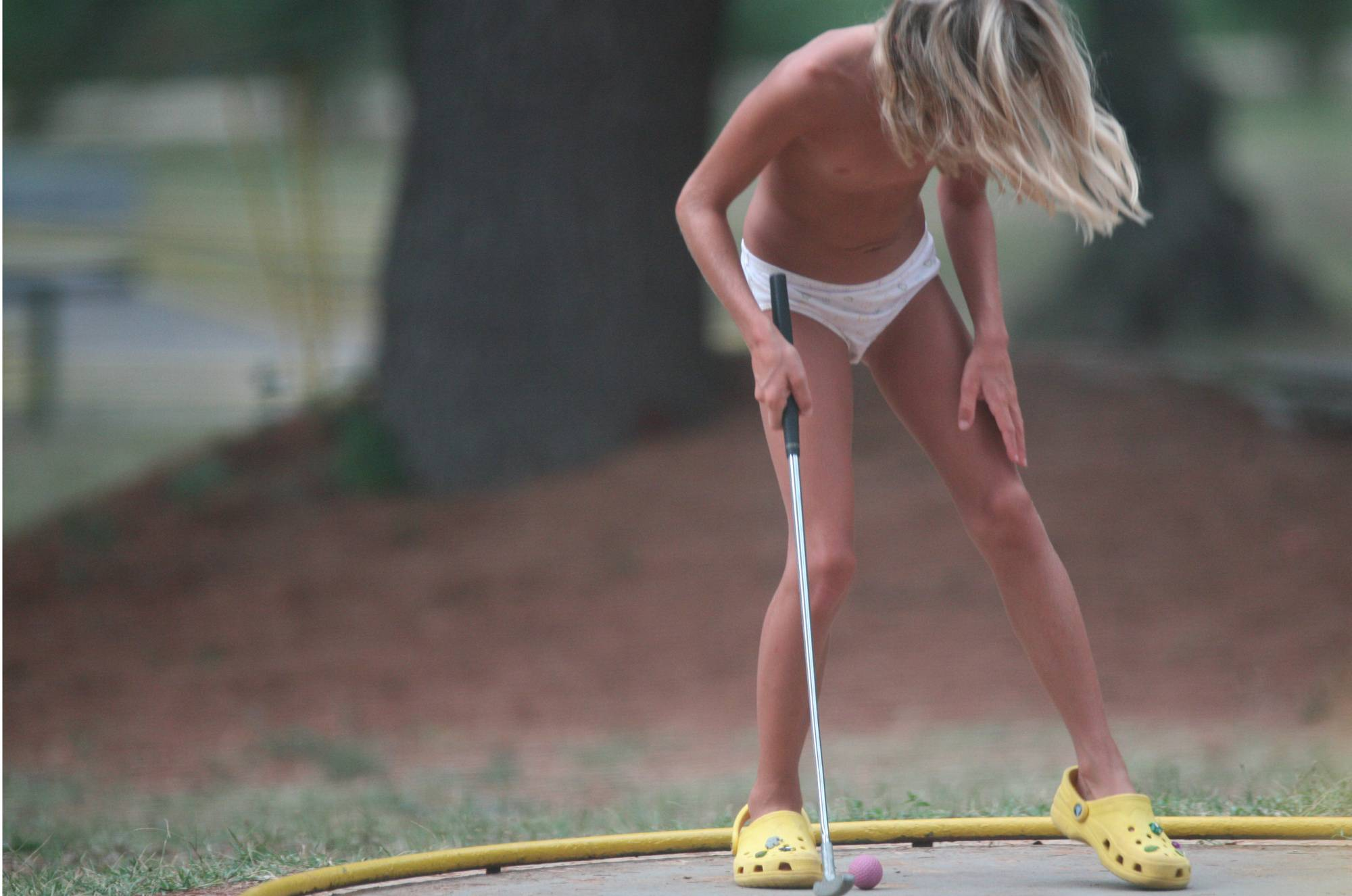 Purenudism Images-Mini-Golf Nude Participants - 1