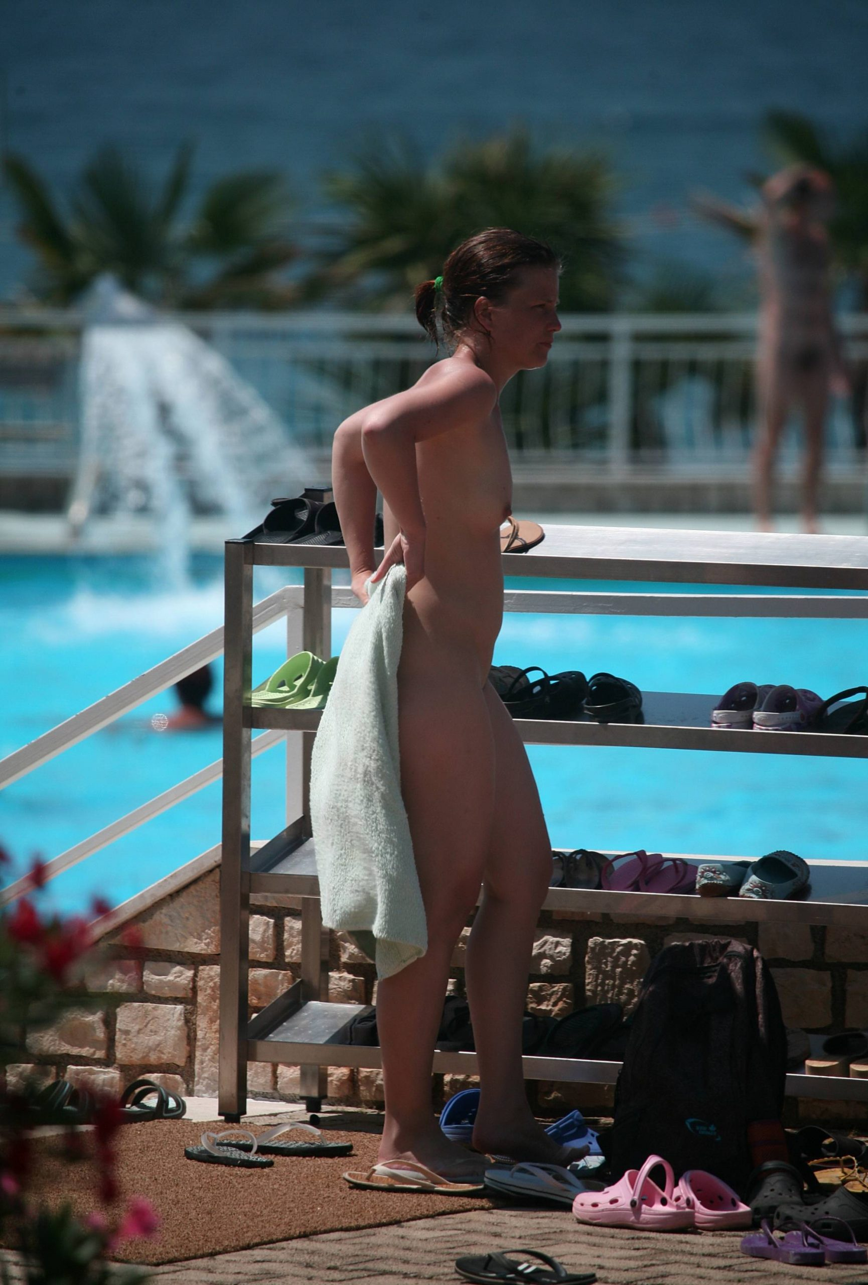 Pure Nudism Pics-Mom And Daughter Swim - 1