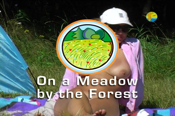 Naturist Freedom-On a Meadow by the Forest - Poster