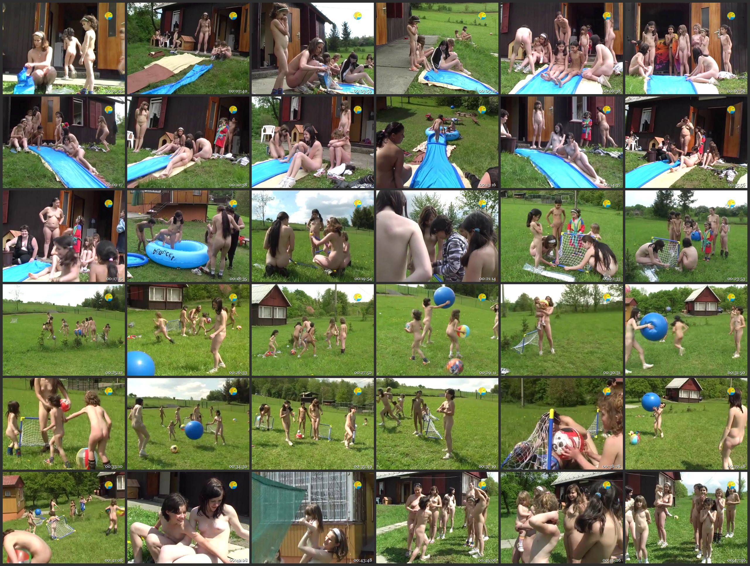 Naturist Freedom-Slide in the Summer - Thumbnails
