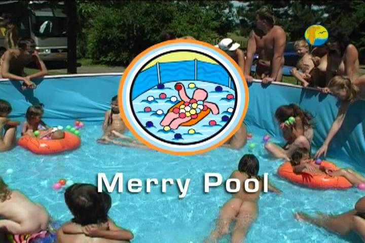 Naturist Freedom Merry Pool - Poster