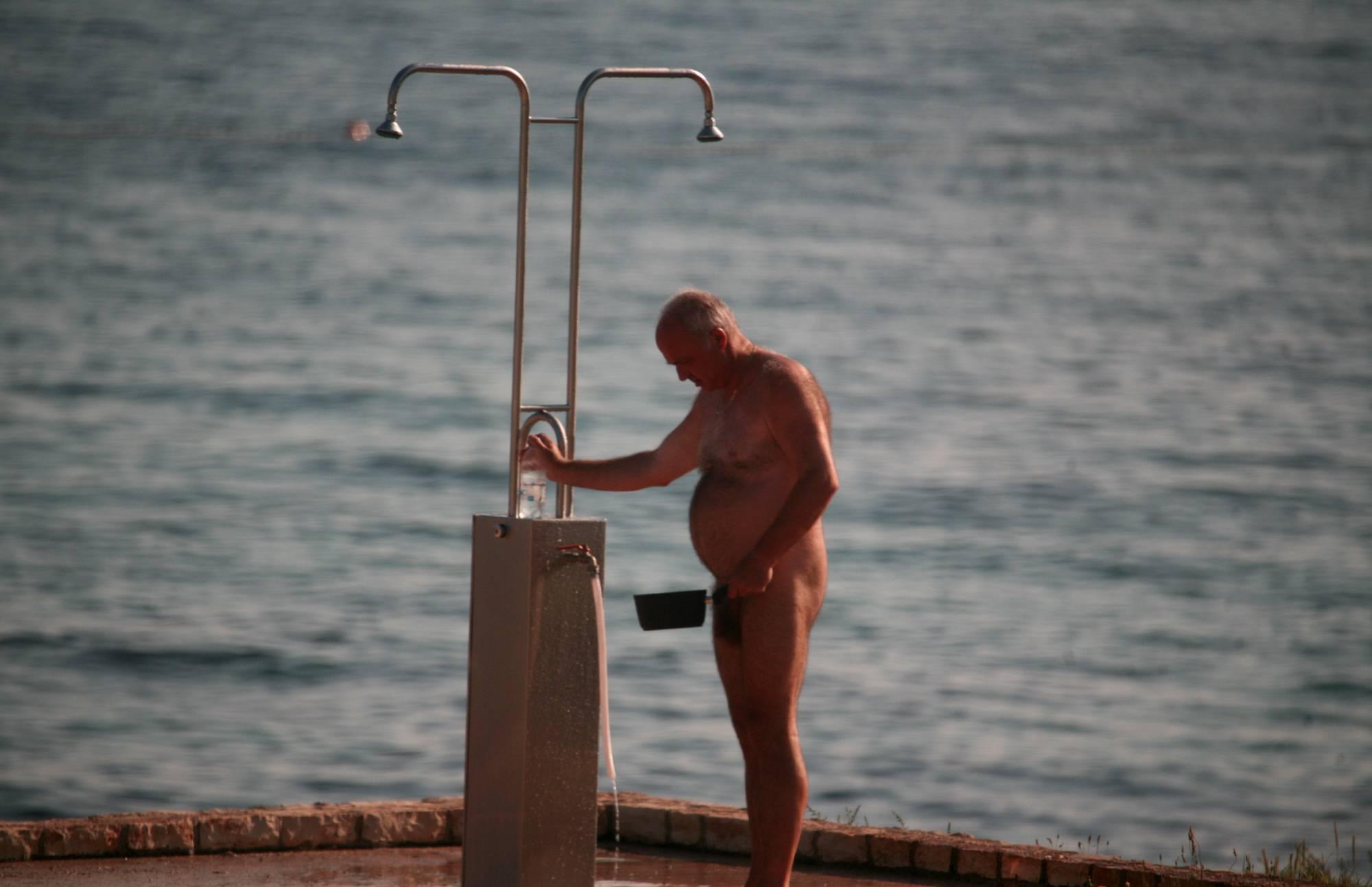Pure Nudism Images-Naturist Shower at Dusk - 3