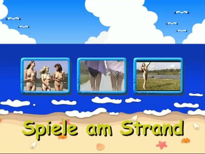 Naturistin-Spiele am Strand - Poster