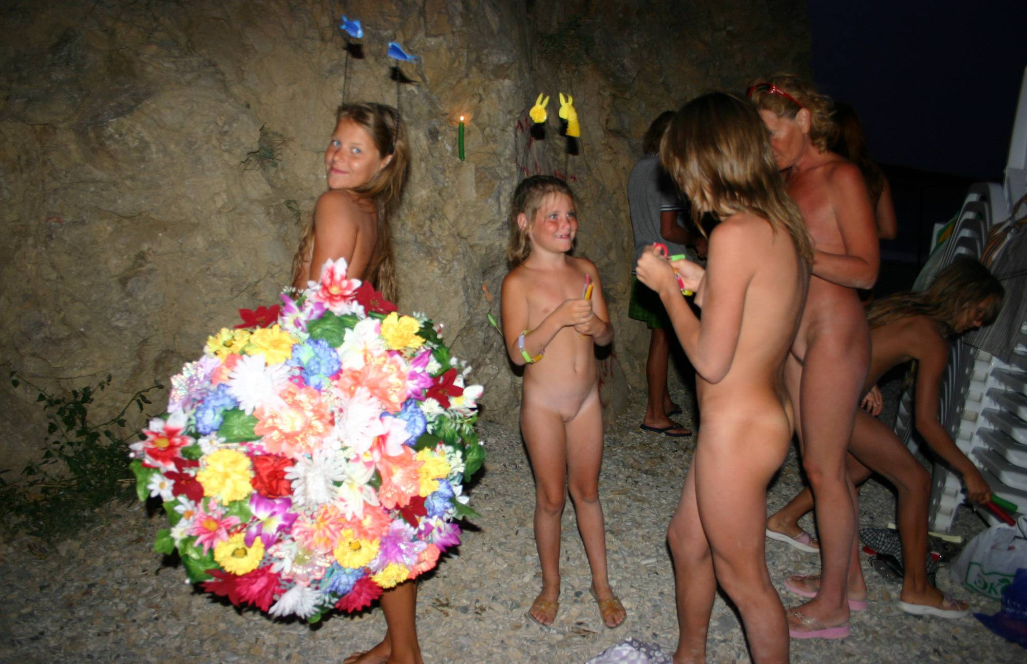 Pure Nudism Photos-Nights Candle and Groups - 1