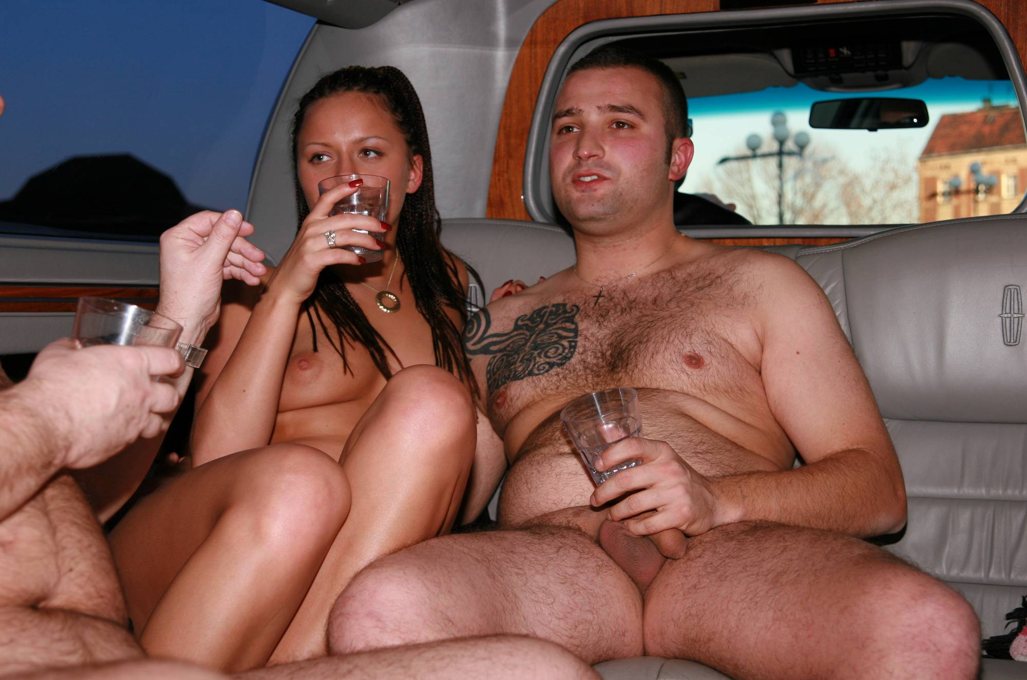 Purenudism Gallery-Nude Limousine Friends - 1