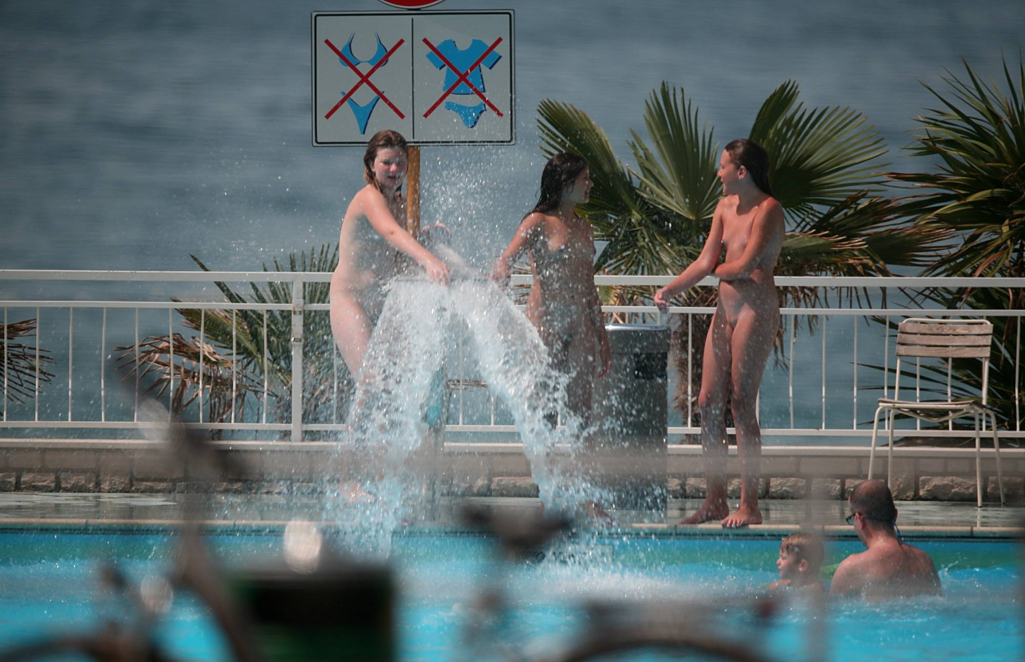 Nude Pool Sprinkler Play - 3