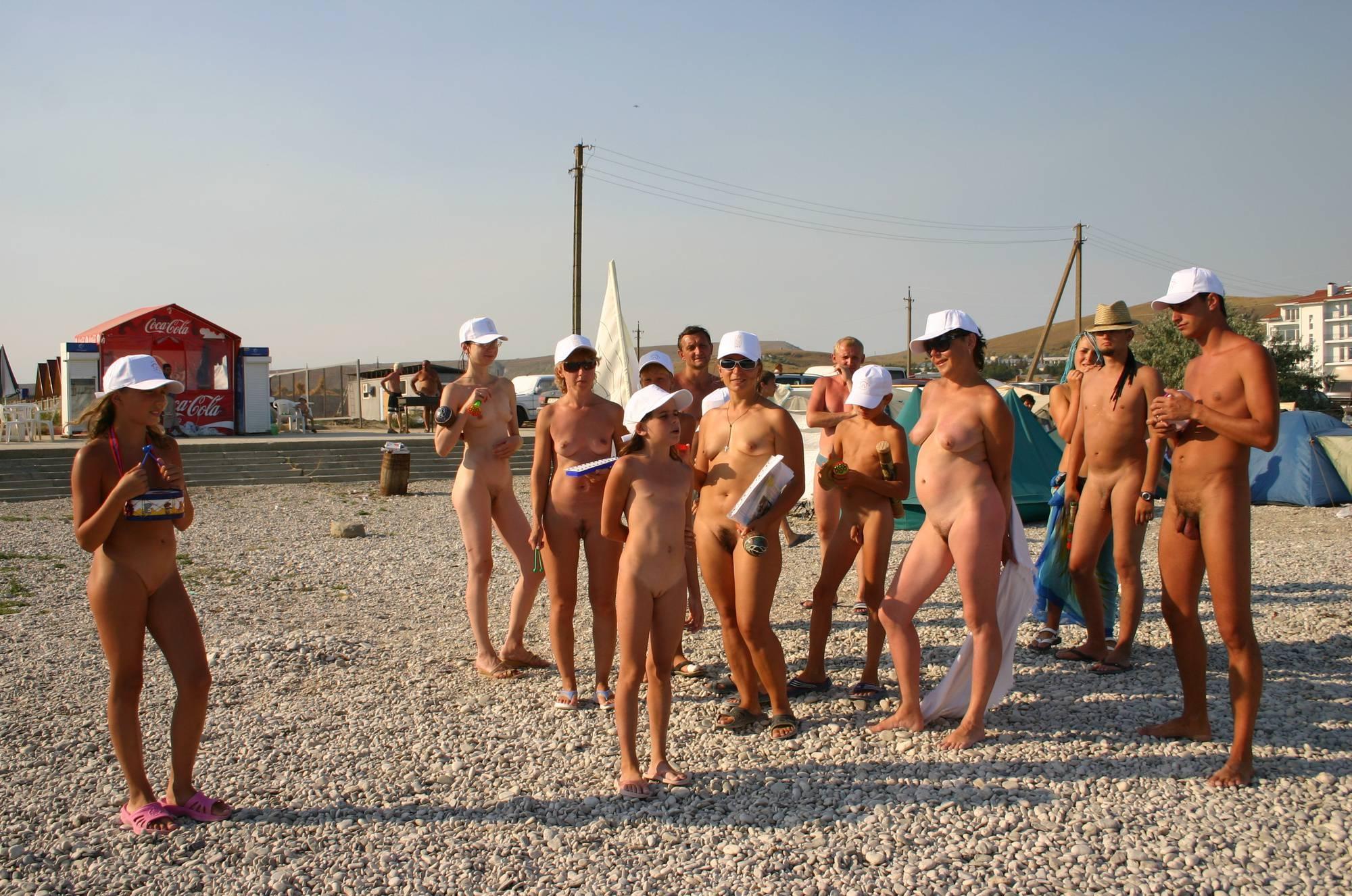 Nudist Family Flag Parade - 1