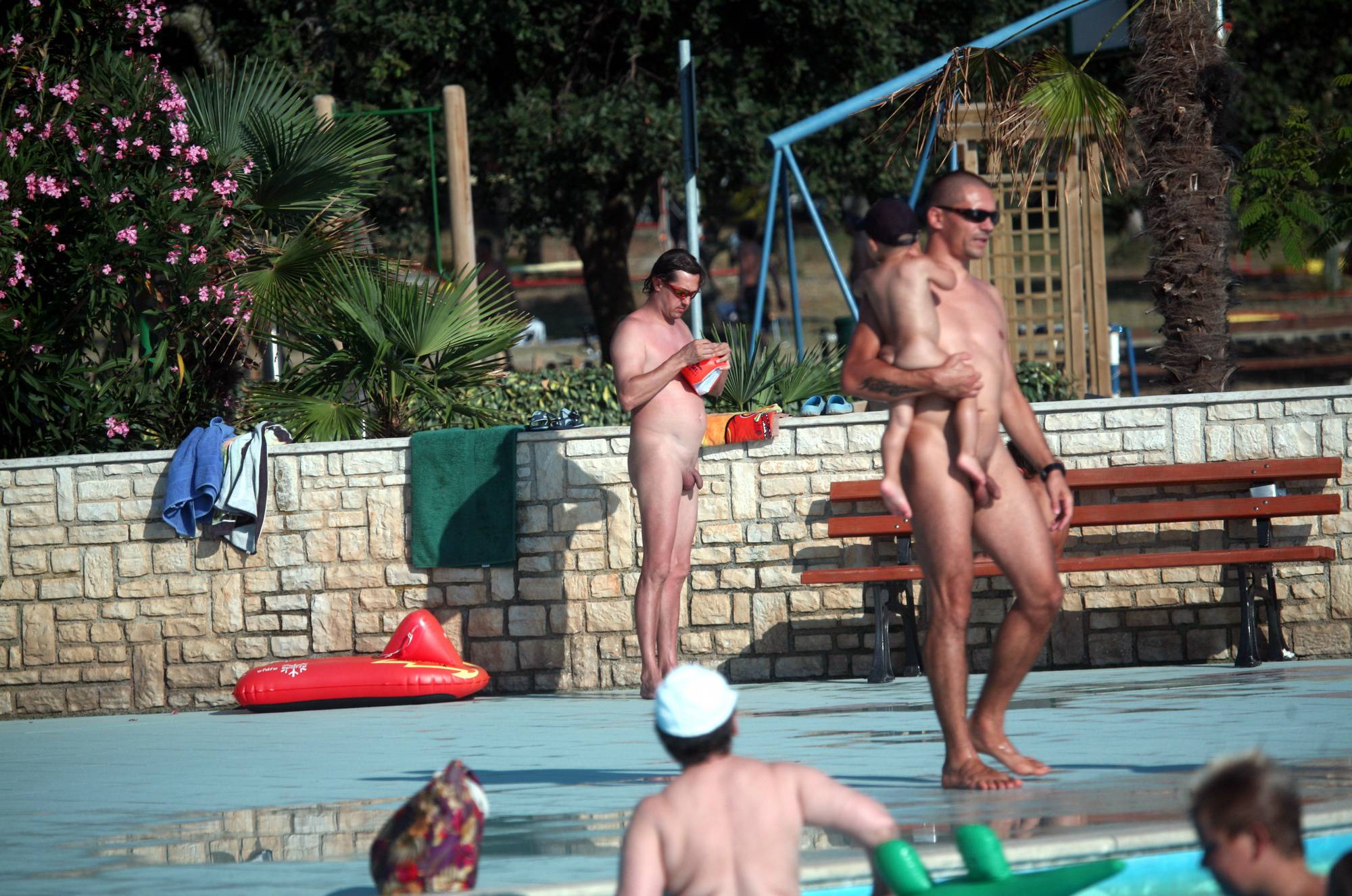 Pure Nudism Nudist Parents and Toddler - 2