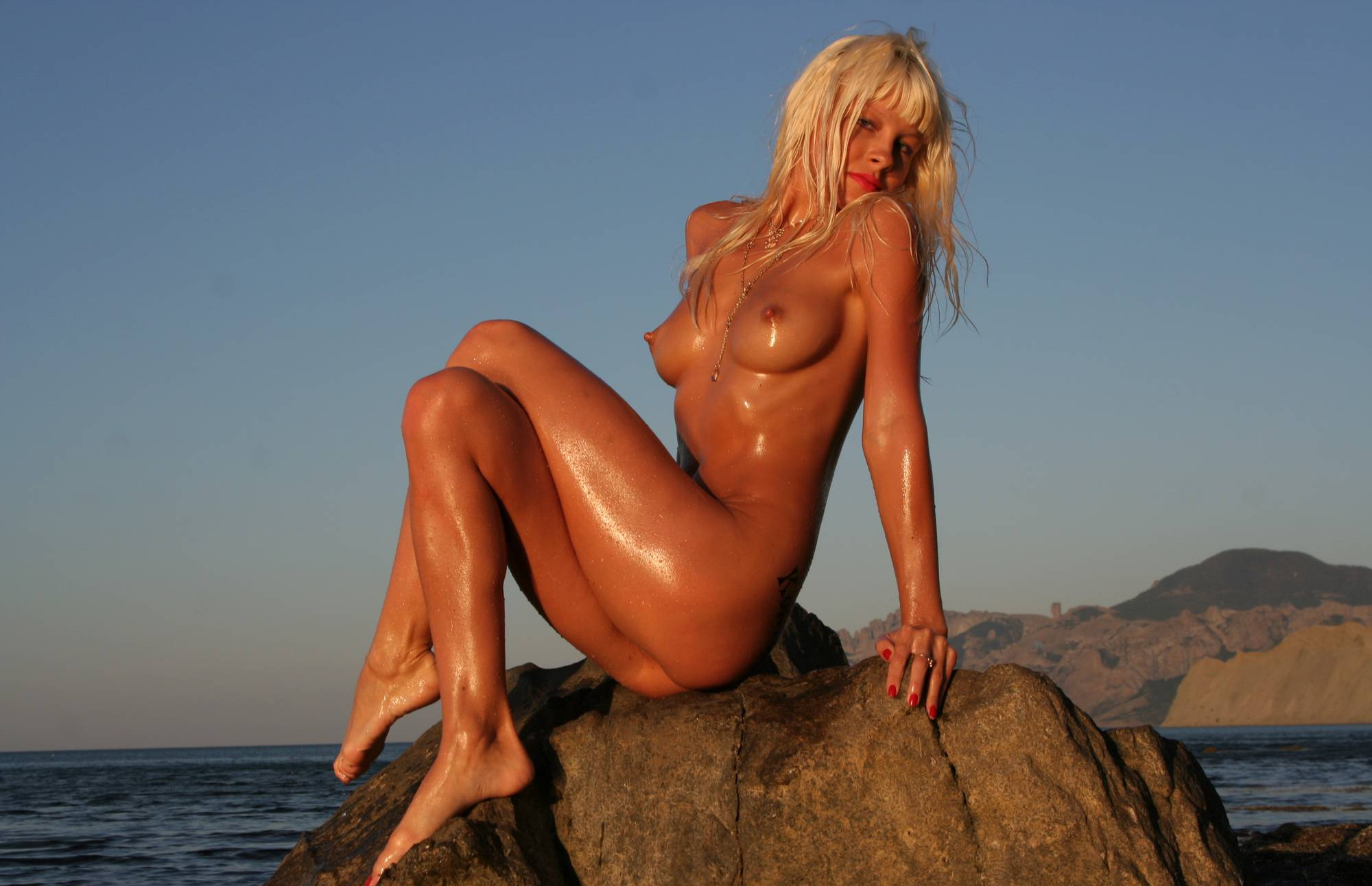 Purenudism Nudist Sunblaze on Rocks - 2