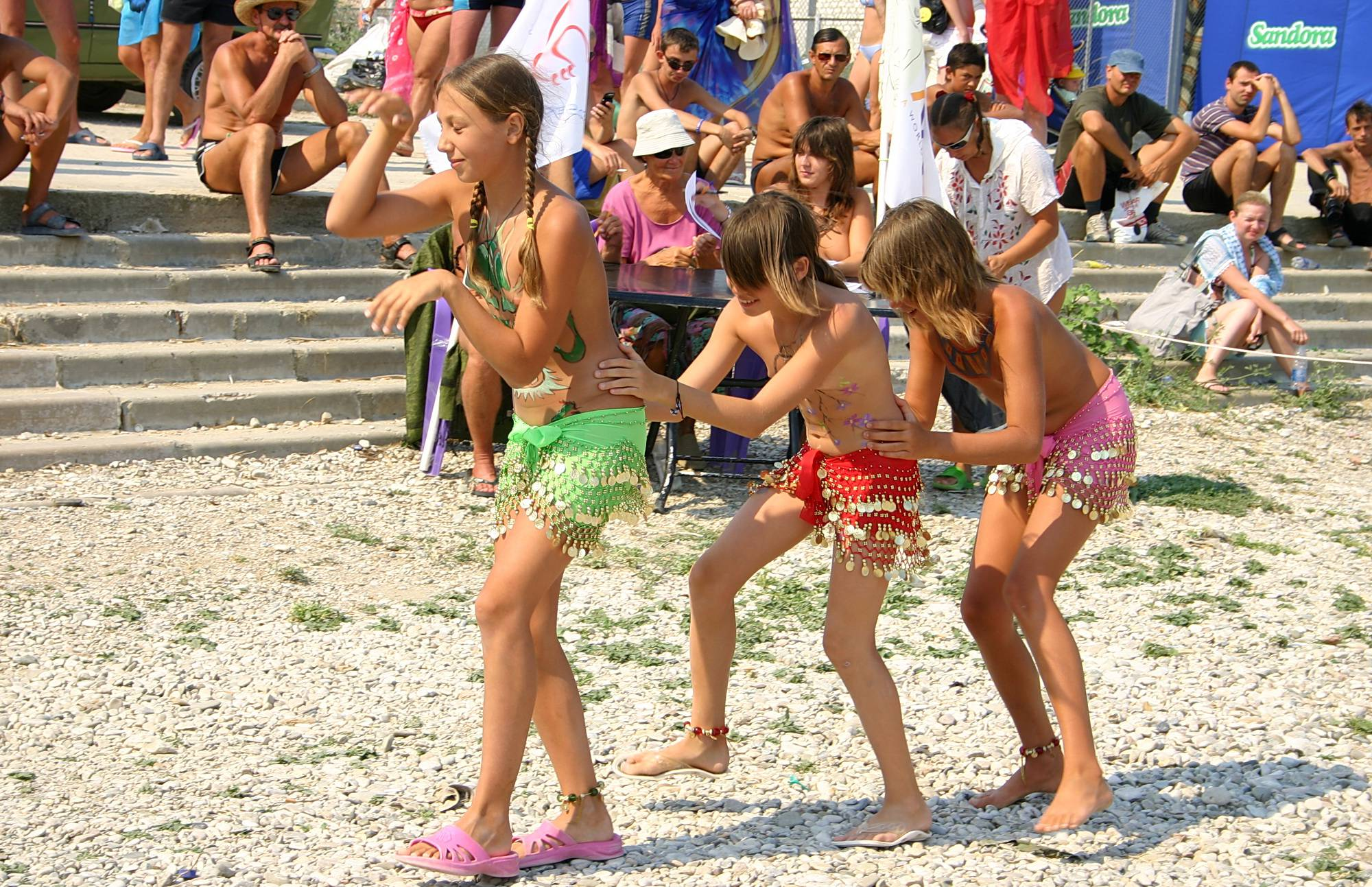 Pure Nudism Gallery-Pastel Beach Day Dance - 3