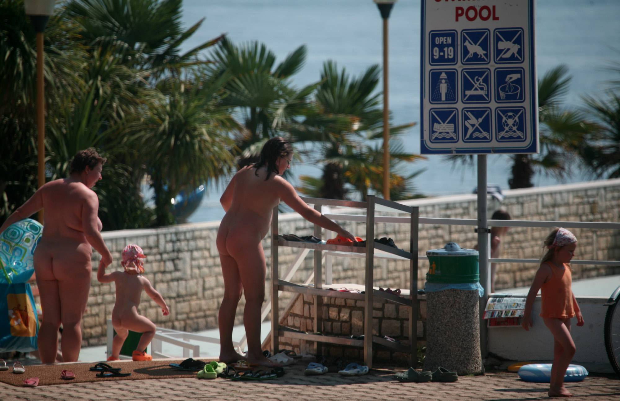 Purenudism Images-Pool Outskirt Nude Guests - 1