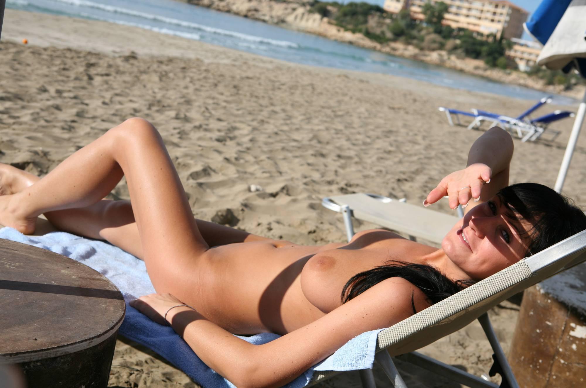 Cyprus Beach Lounging - 1