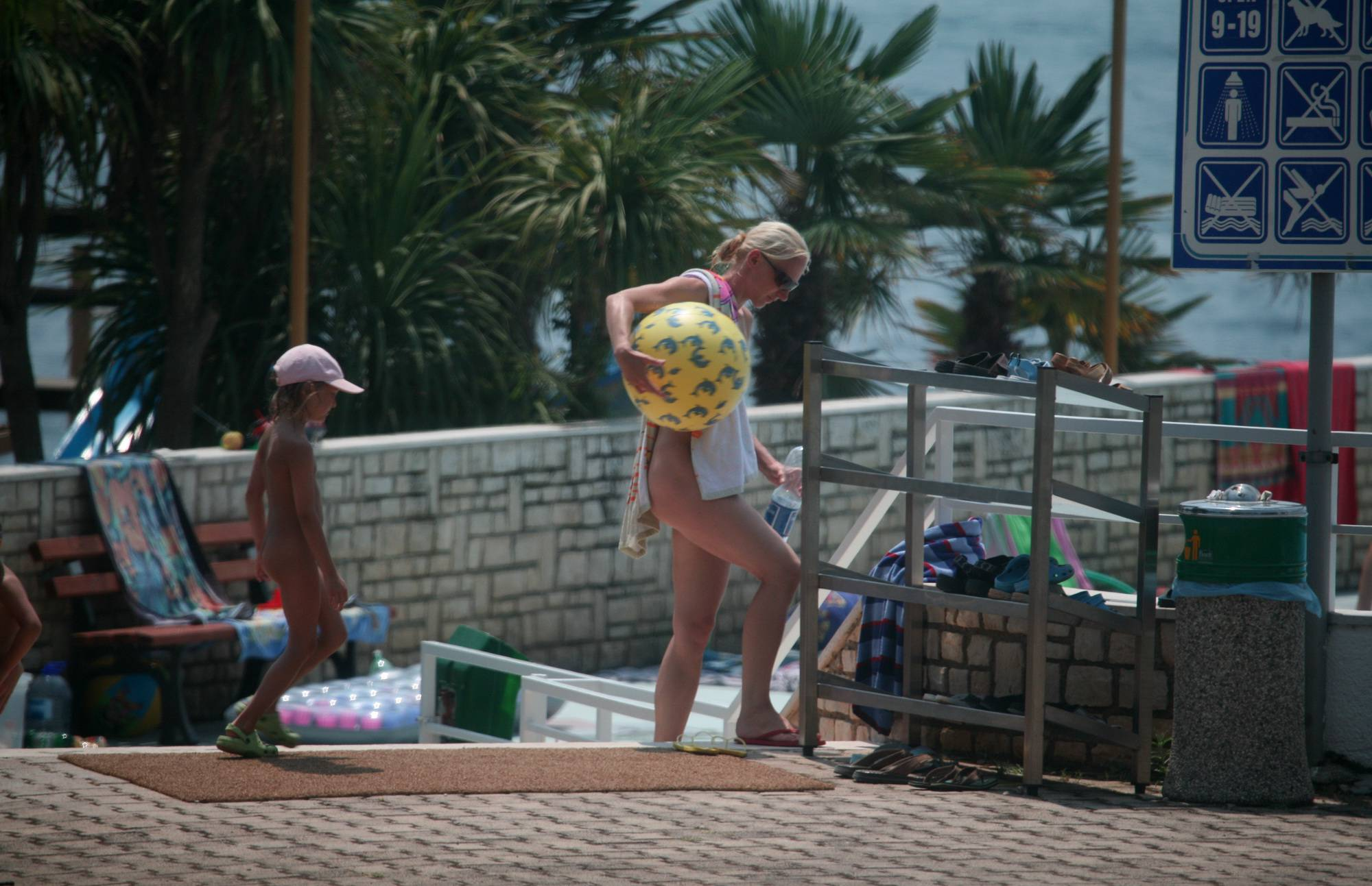 Pure Nudism Images-Beautiful Day for Pool - 2