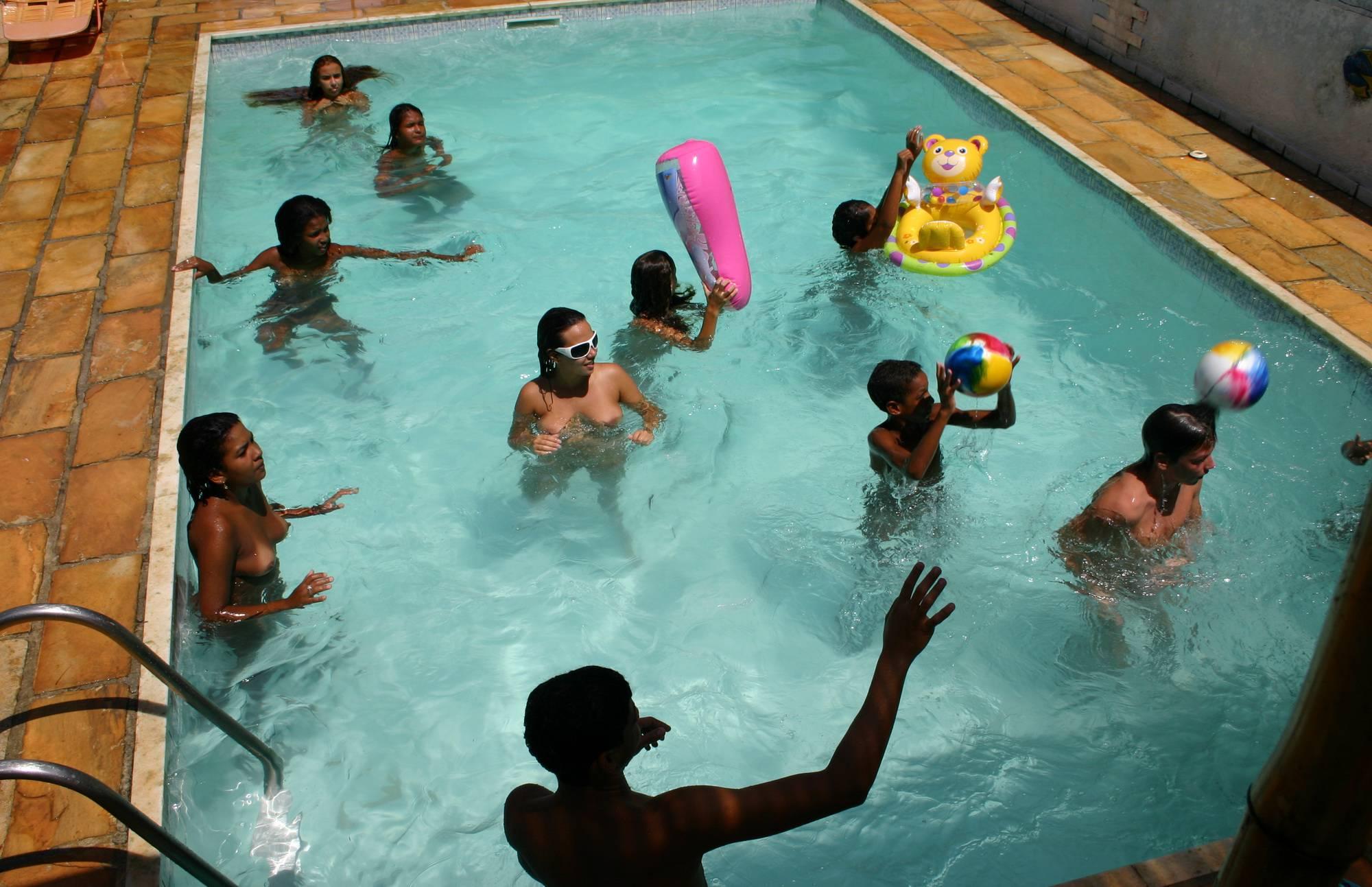 Pure Nudism Images Brazilian Pool Group Shots - 1