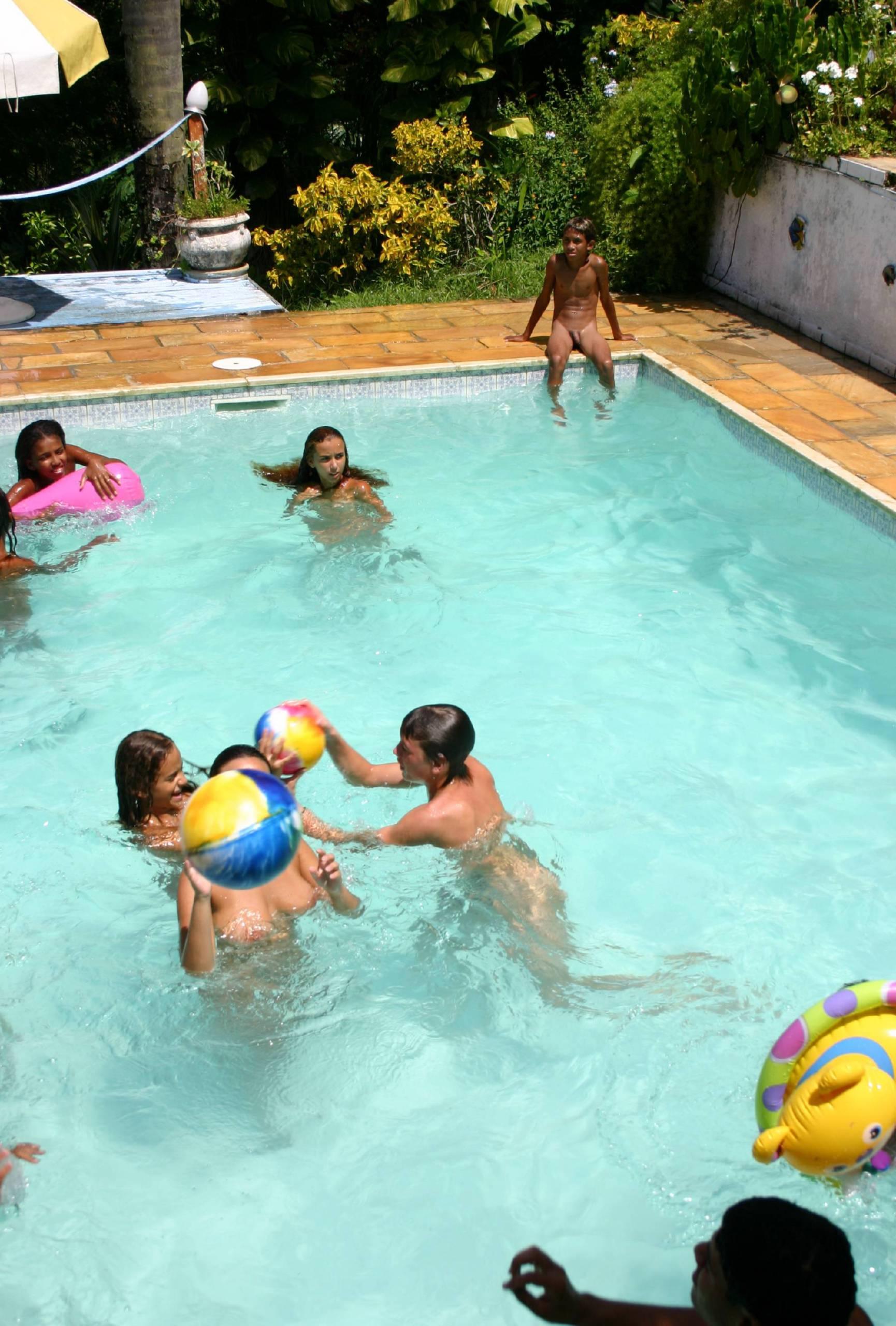 Pure Nudism Photos Brazilian Pool Group Shots - 4