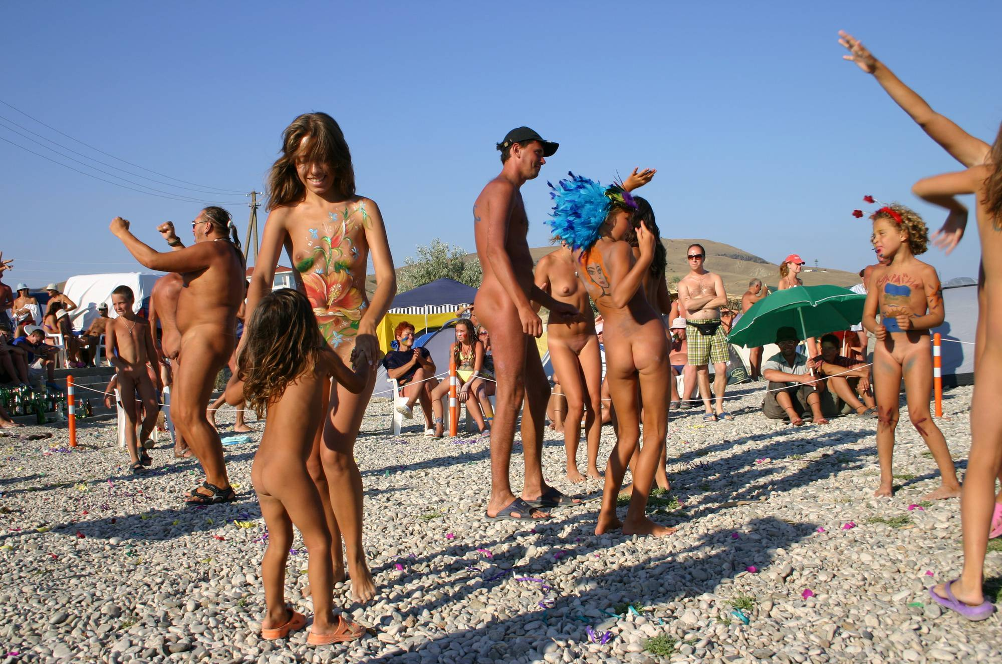 Purenudism-Family Beach Dance Party - 1