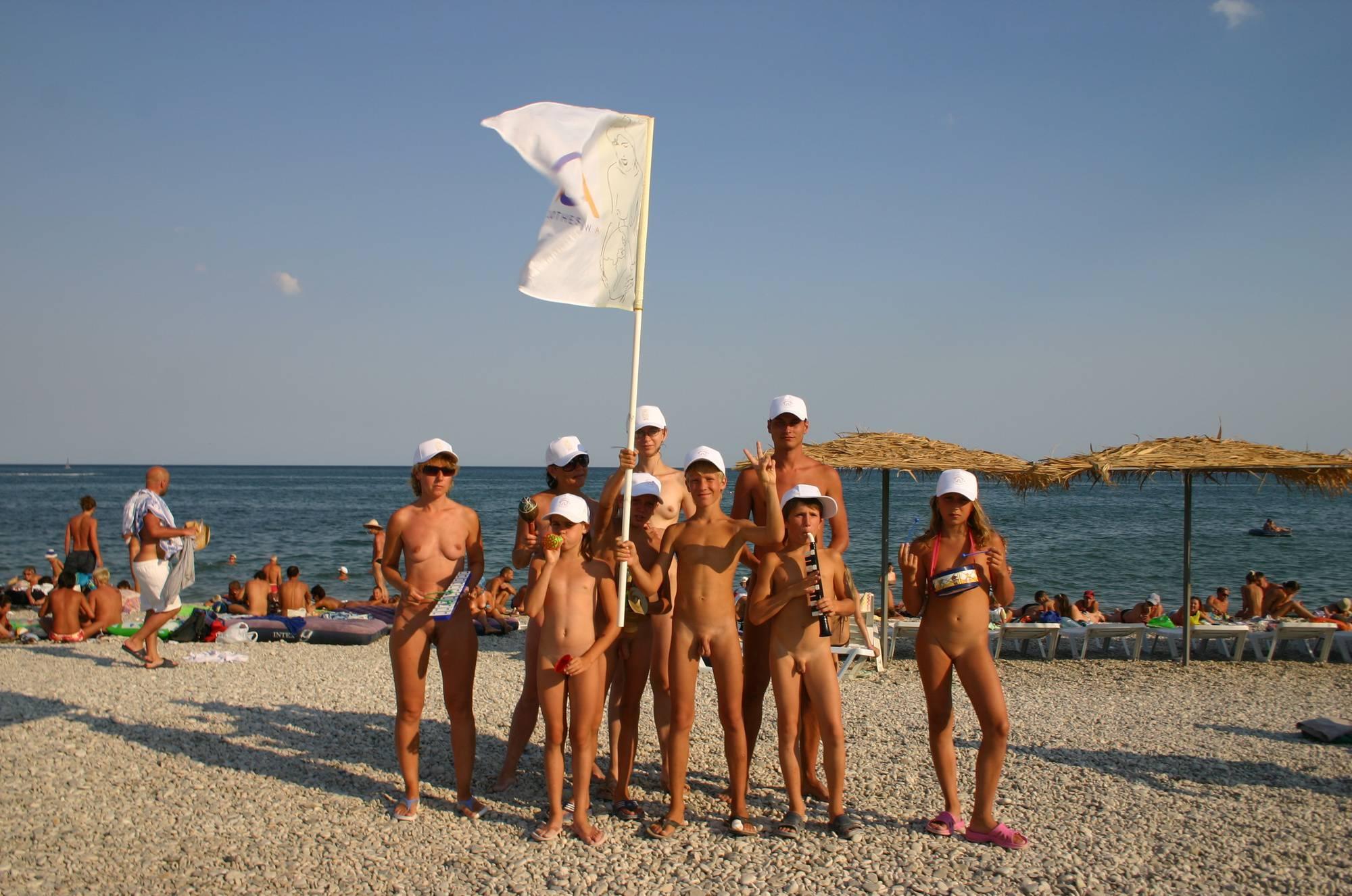 Nudist Family Flag Parade - 3