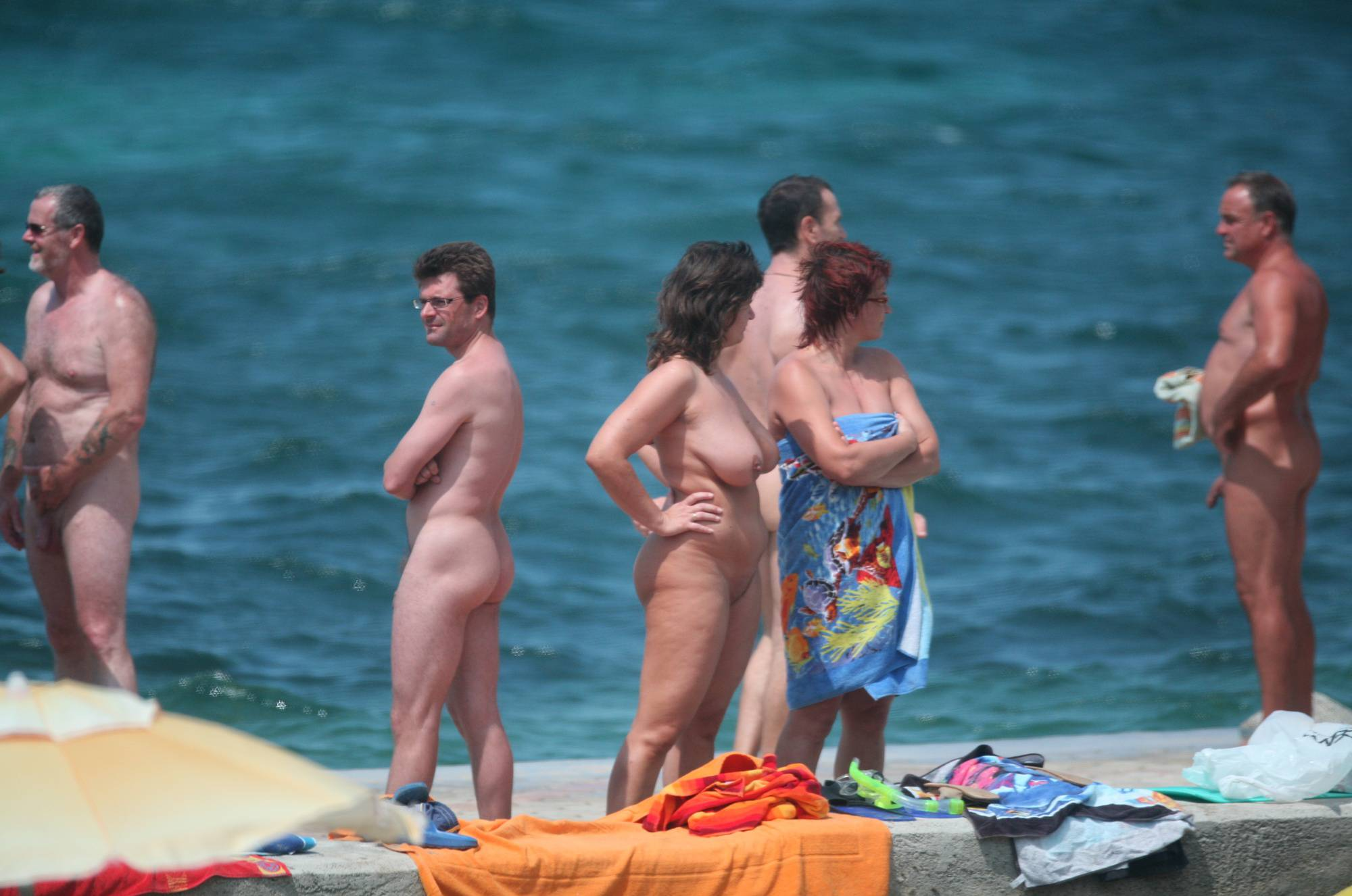 Pure Nudism Photos-Pier Sand Square Bathers - 1