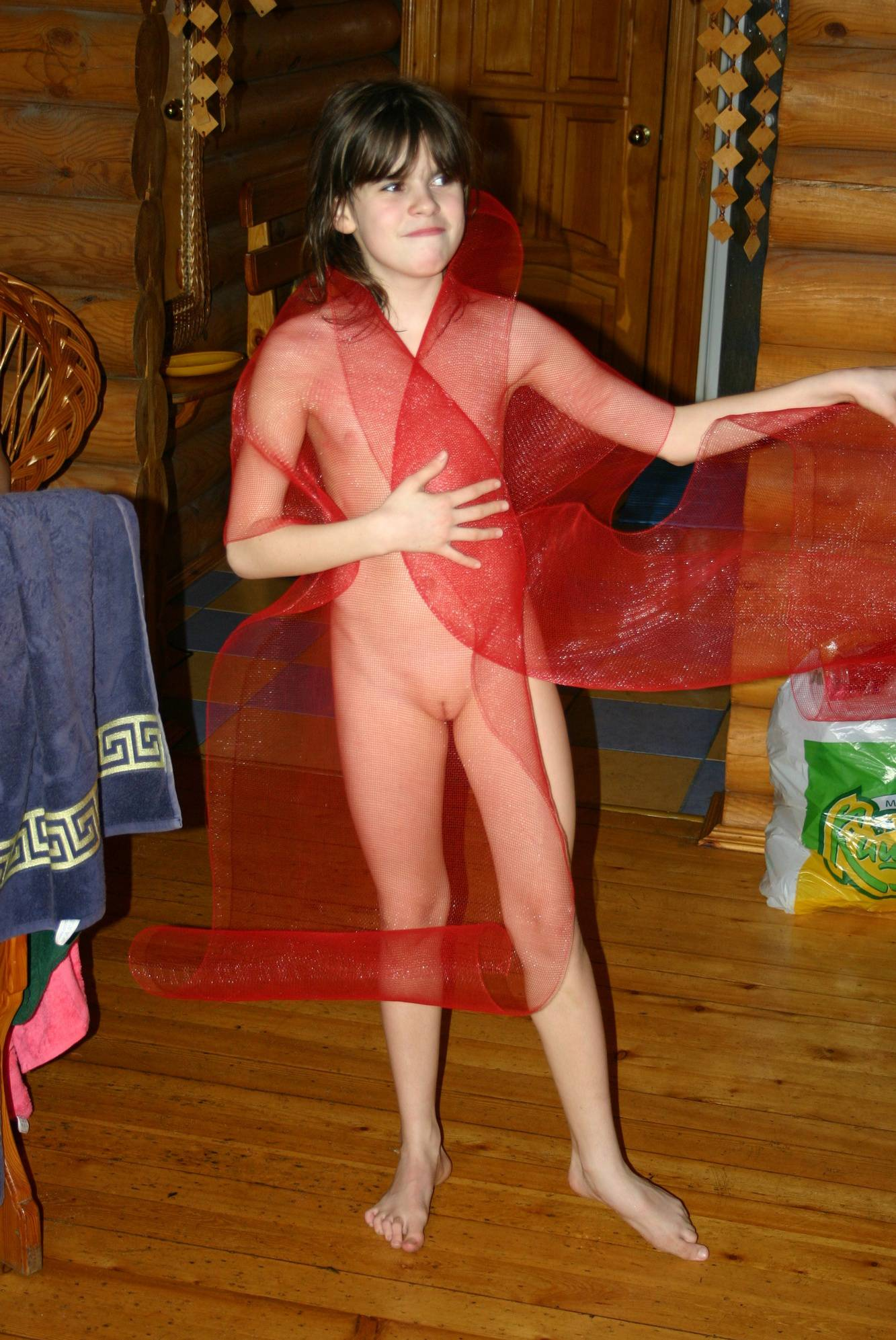 Pure Nudism-Childs Red Net Valentines - 3