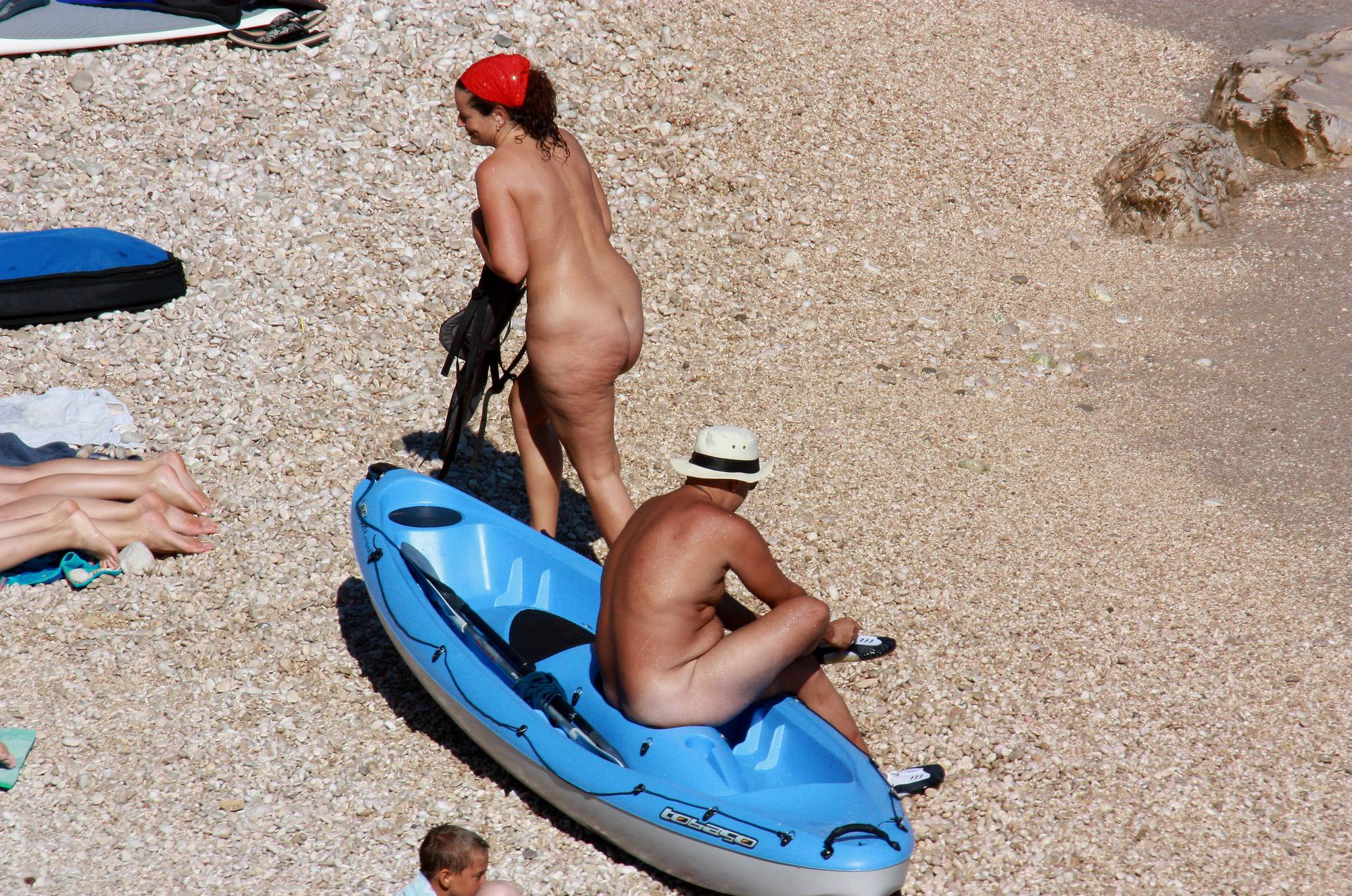 Pure Nudism Pics Get In Waters for Boating - 4