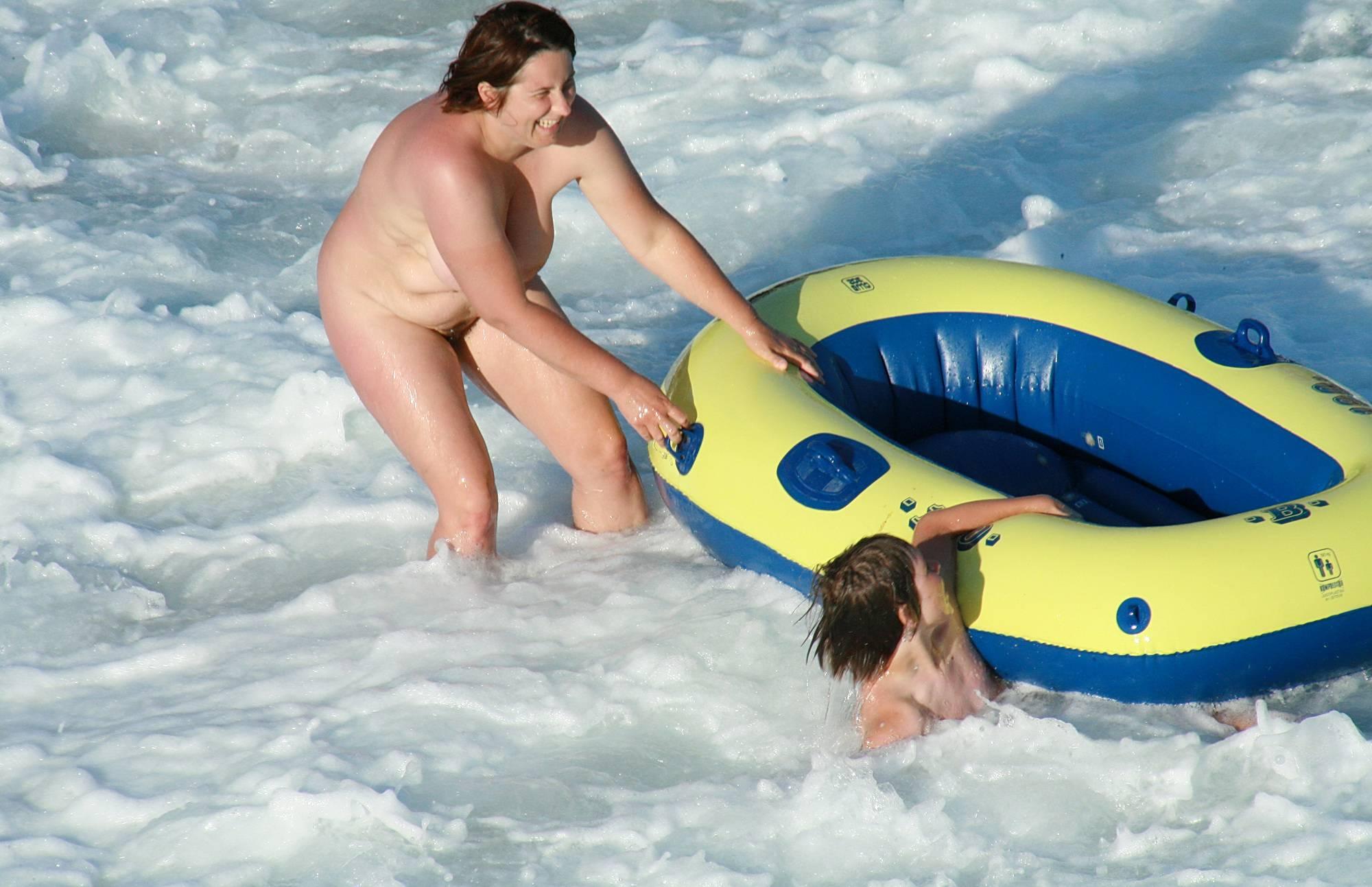 Sunny Ocean Raft Riding - 2