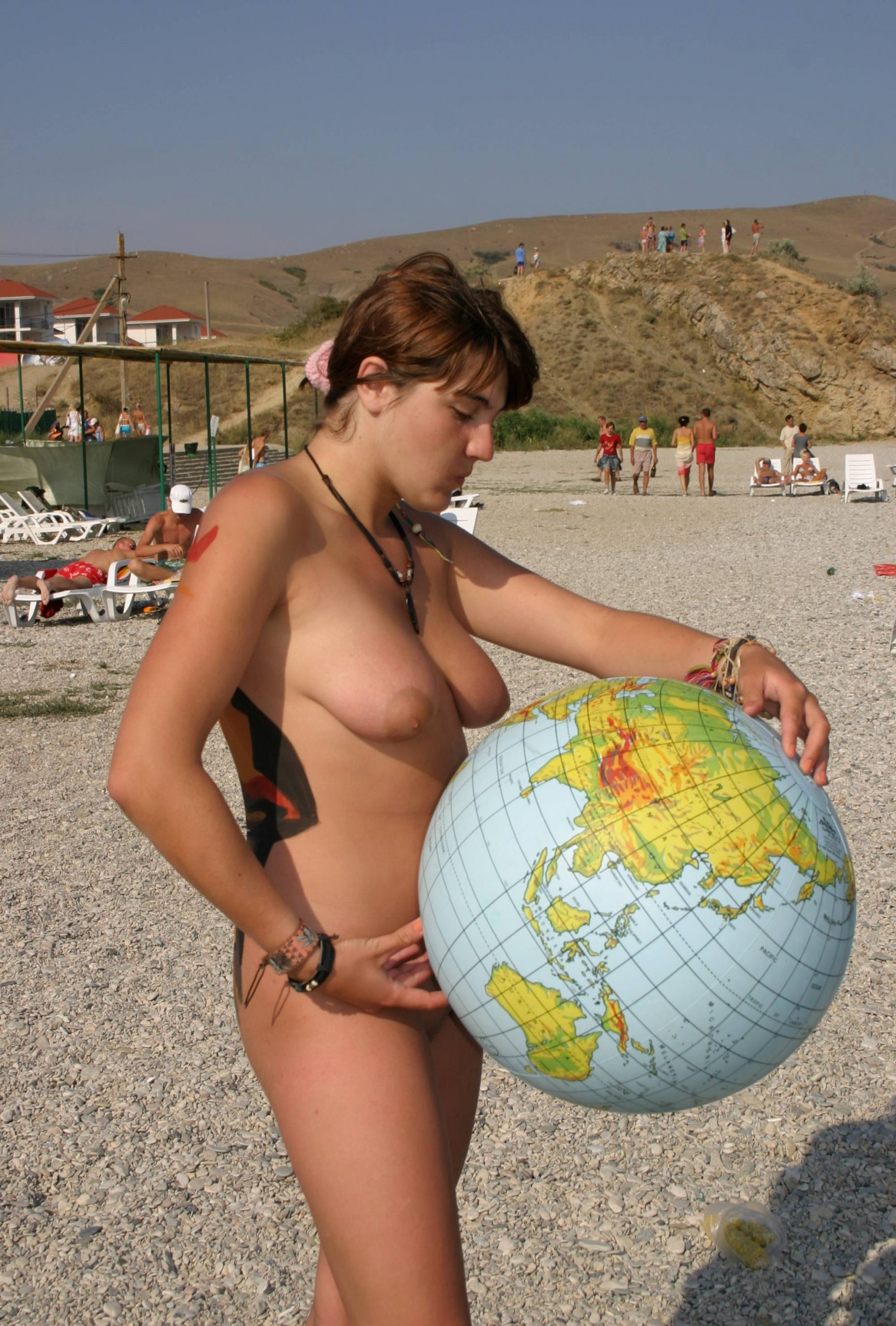 Purenudism Images-World Beach Ball in the Air - 1