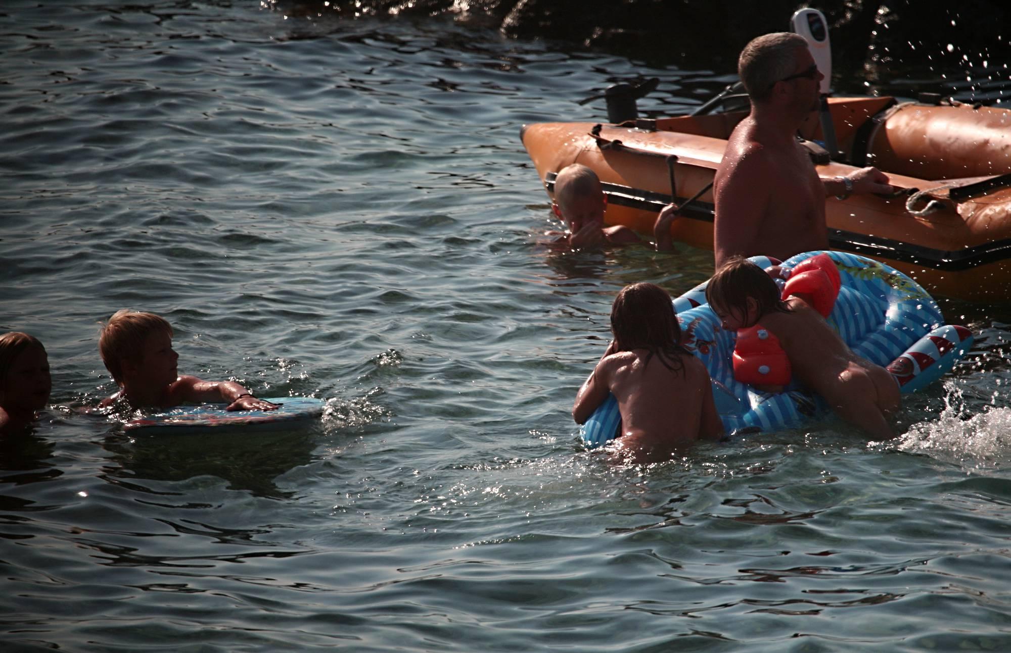 Full Family Nudist Boating - 4