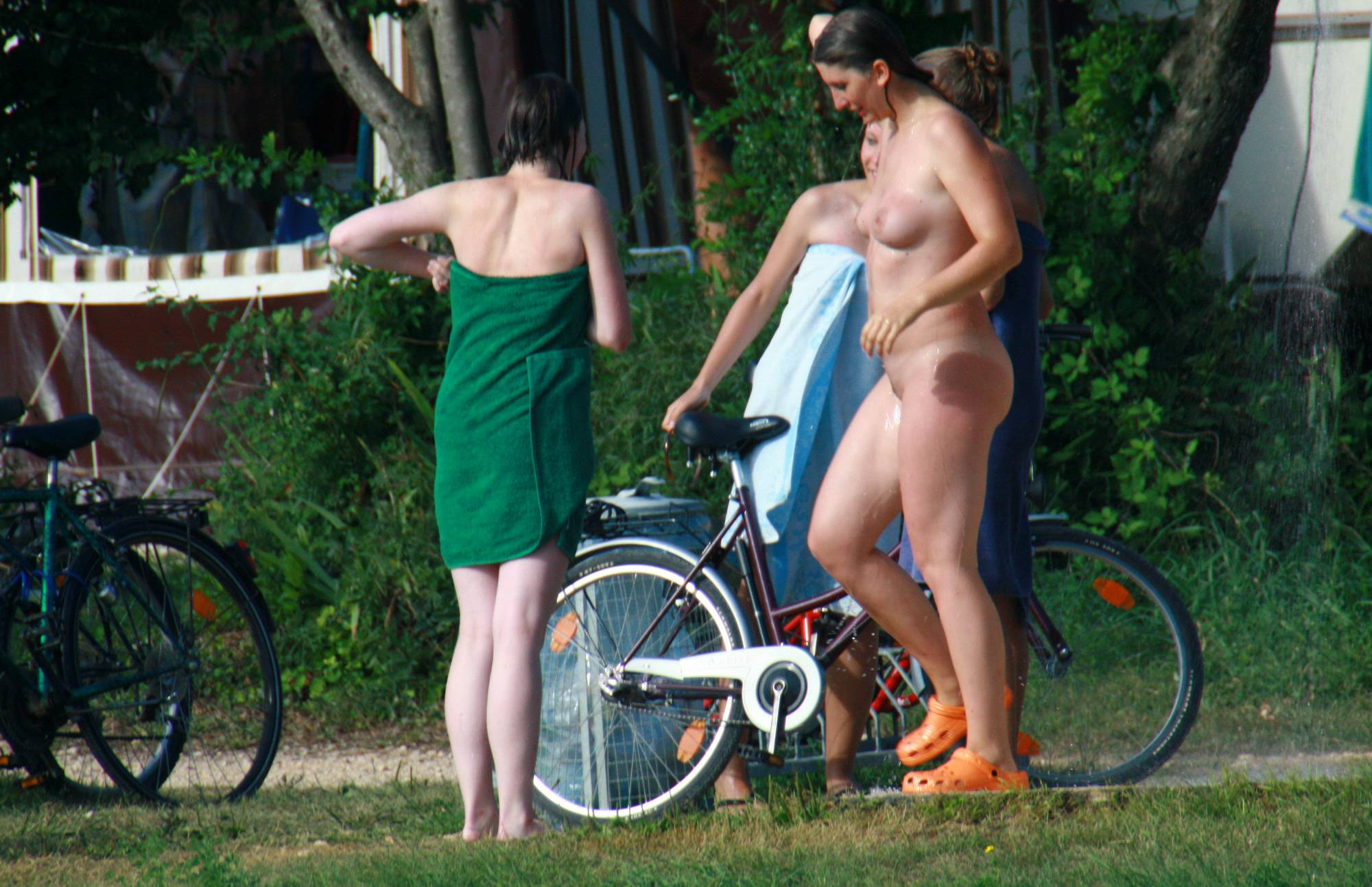 Pure Nudism Nude Duet Group Shower - 3