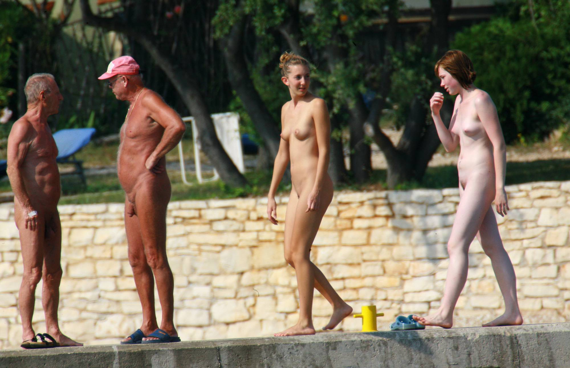 Purenudism Images-Nude Duet On-Water Slab - 2