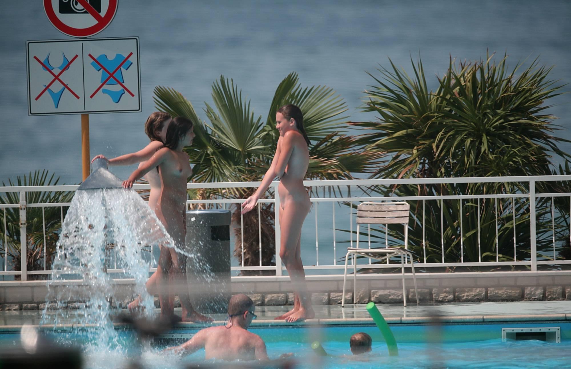 Nude Pool Sprinkler Play - 2