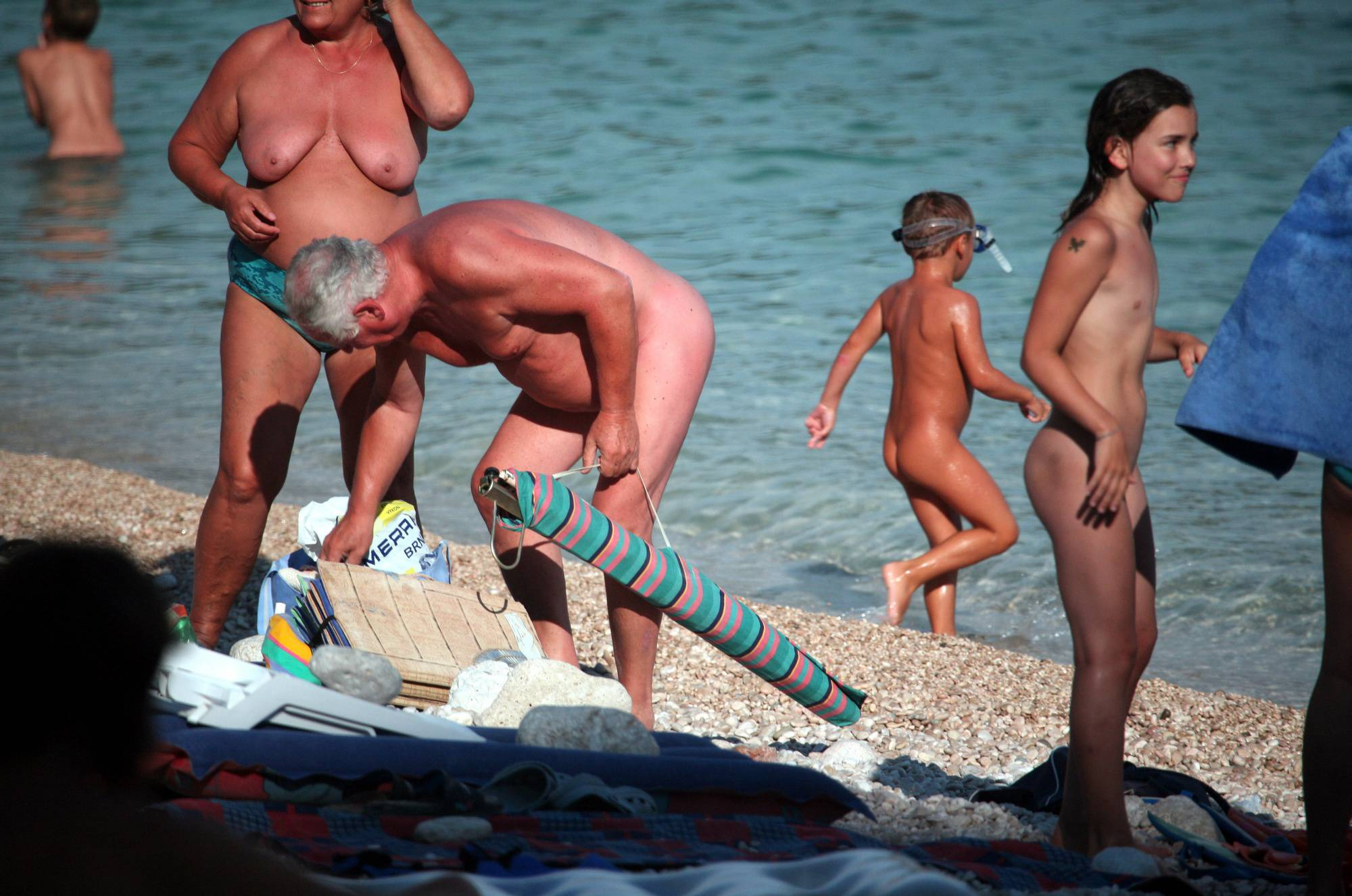 Pure Nudism Pics-Girl and Family Beach Side - 2