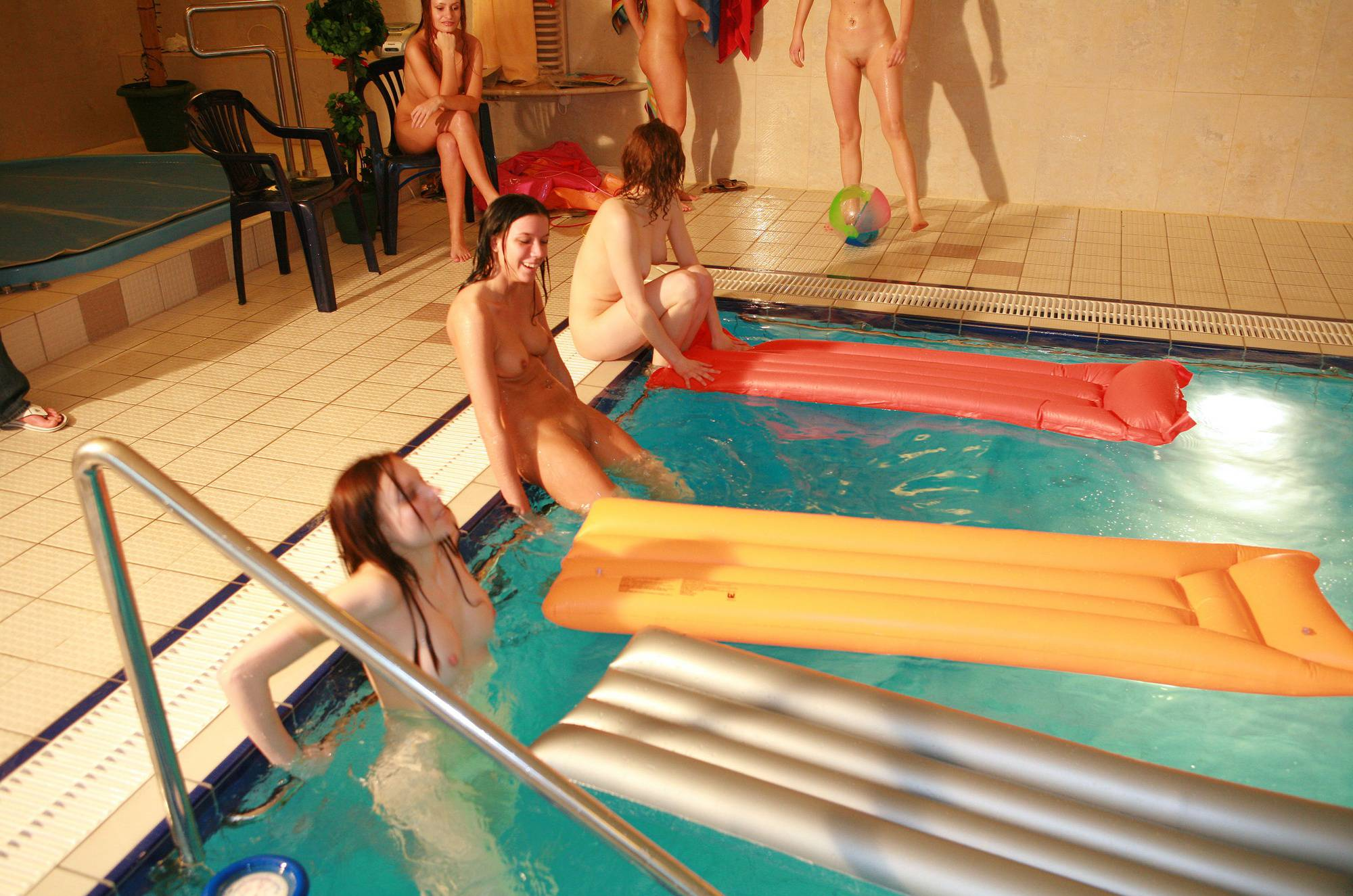 Pure Nudism Photos-Girls Pool Party Basin - 4